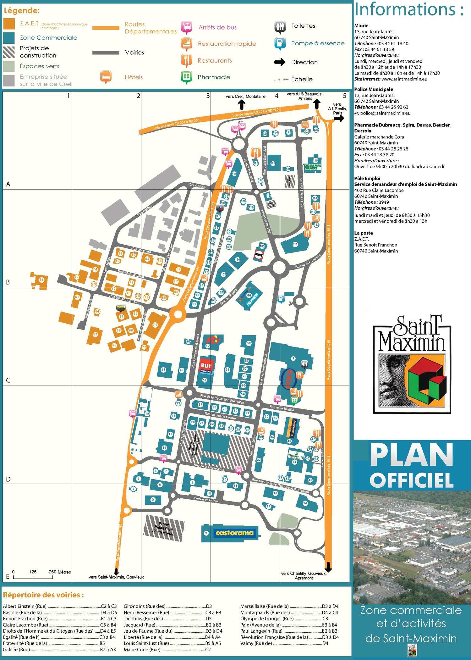 Verre Clair Saint Maximin calaméo - plan officiel de la zone commercial de saint-maximin