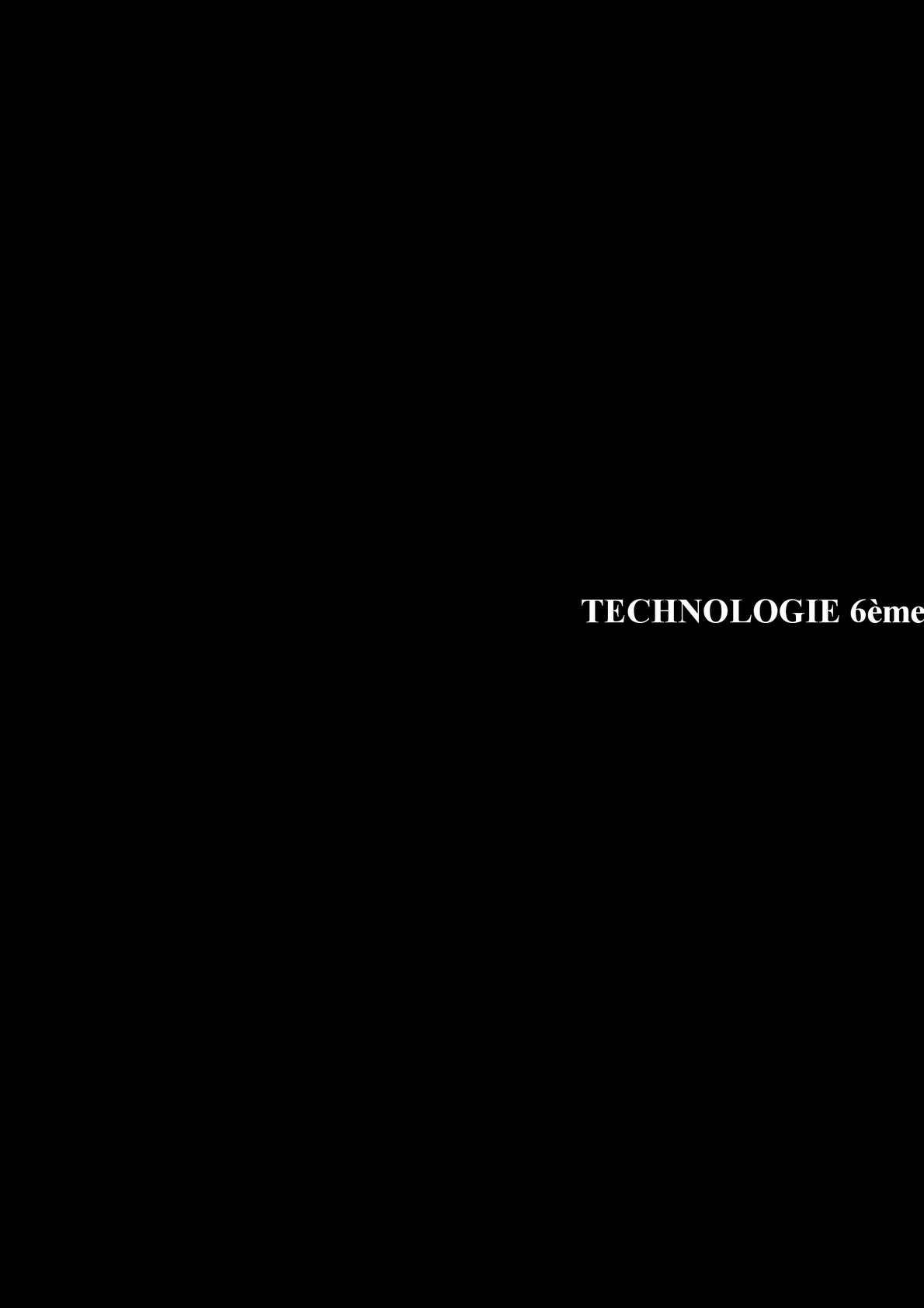 Technologie 6ème