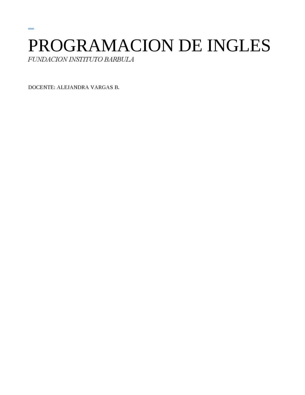 Calaméo Programacion Ingles 2014
