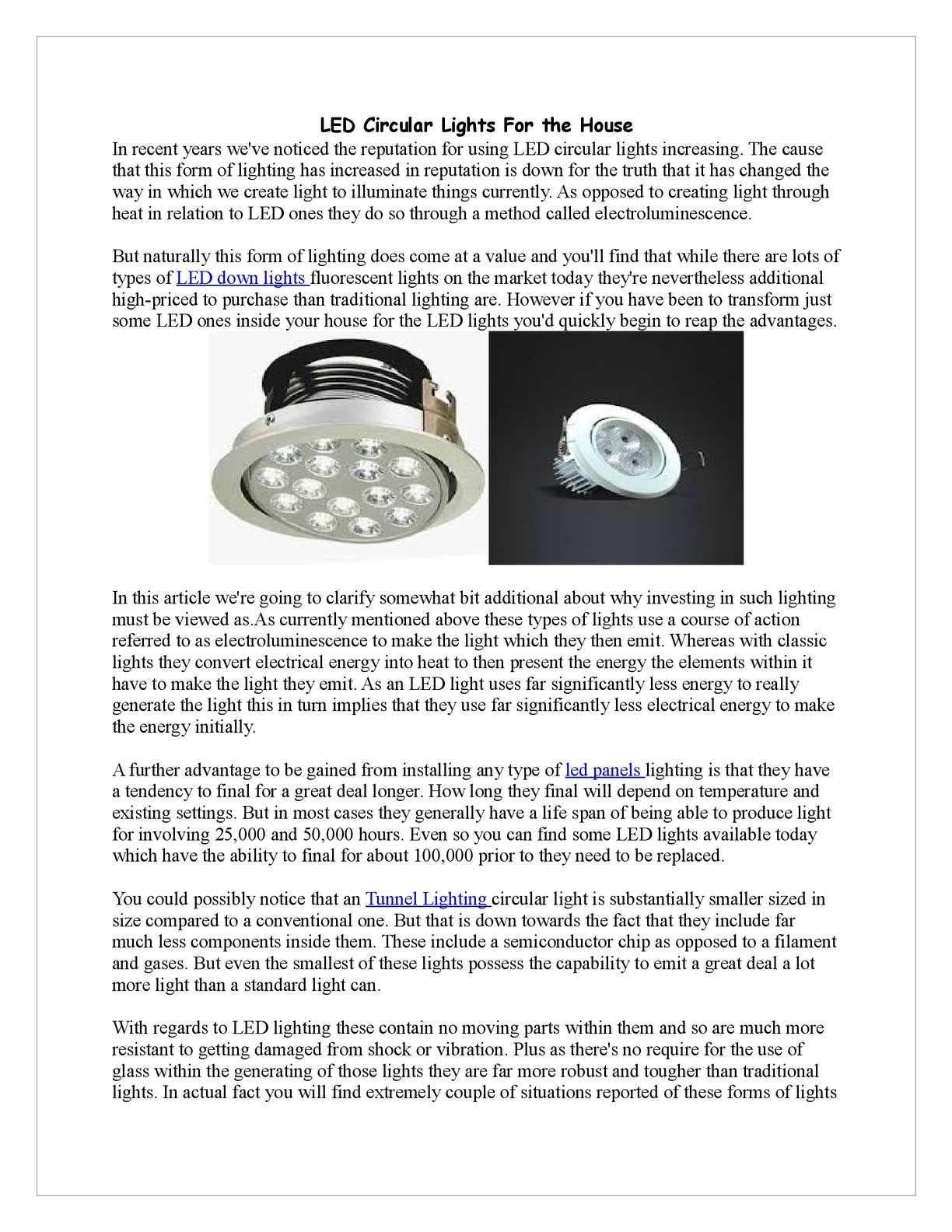 Calaméo - LED Circular Lights For the House