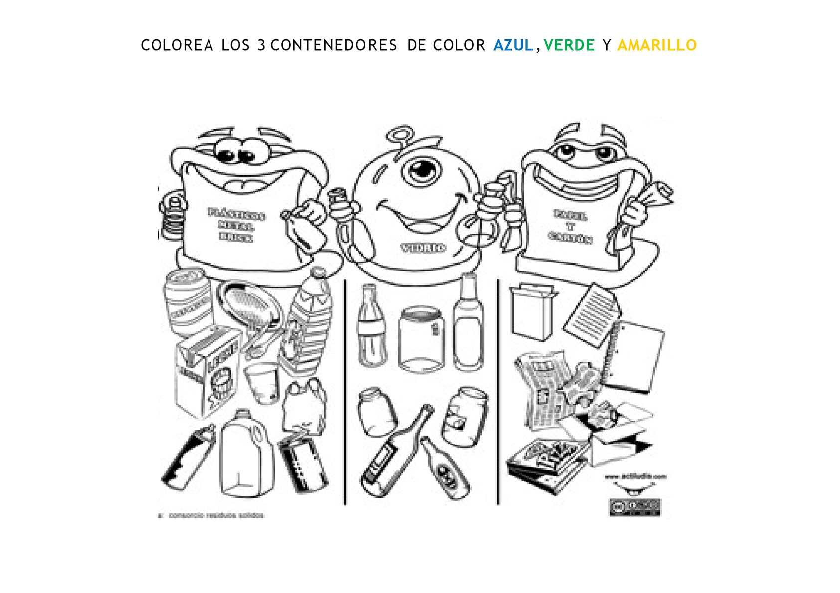 Carpe Diem, el blog de Carlos Pro: Decora tus cubos de ... |Reciclar Para Colorear
