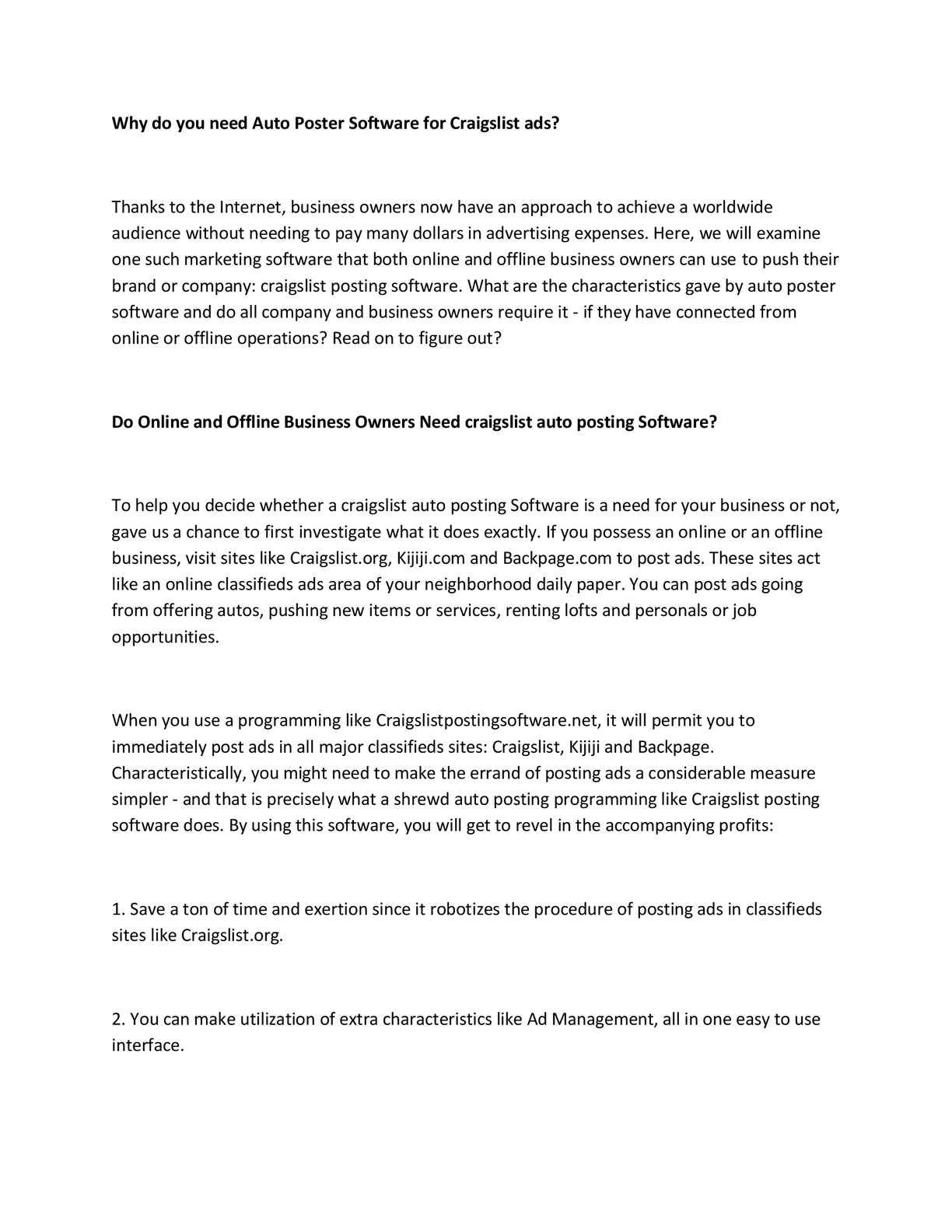 Calaméo - Craigslist posting software