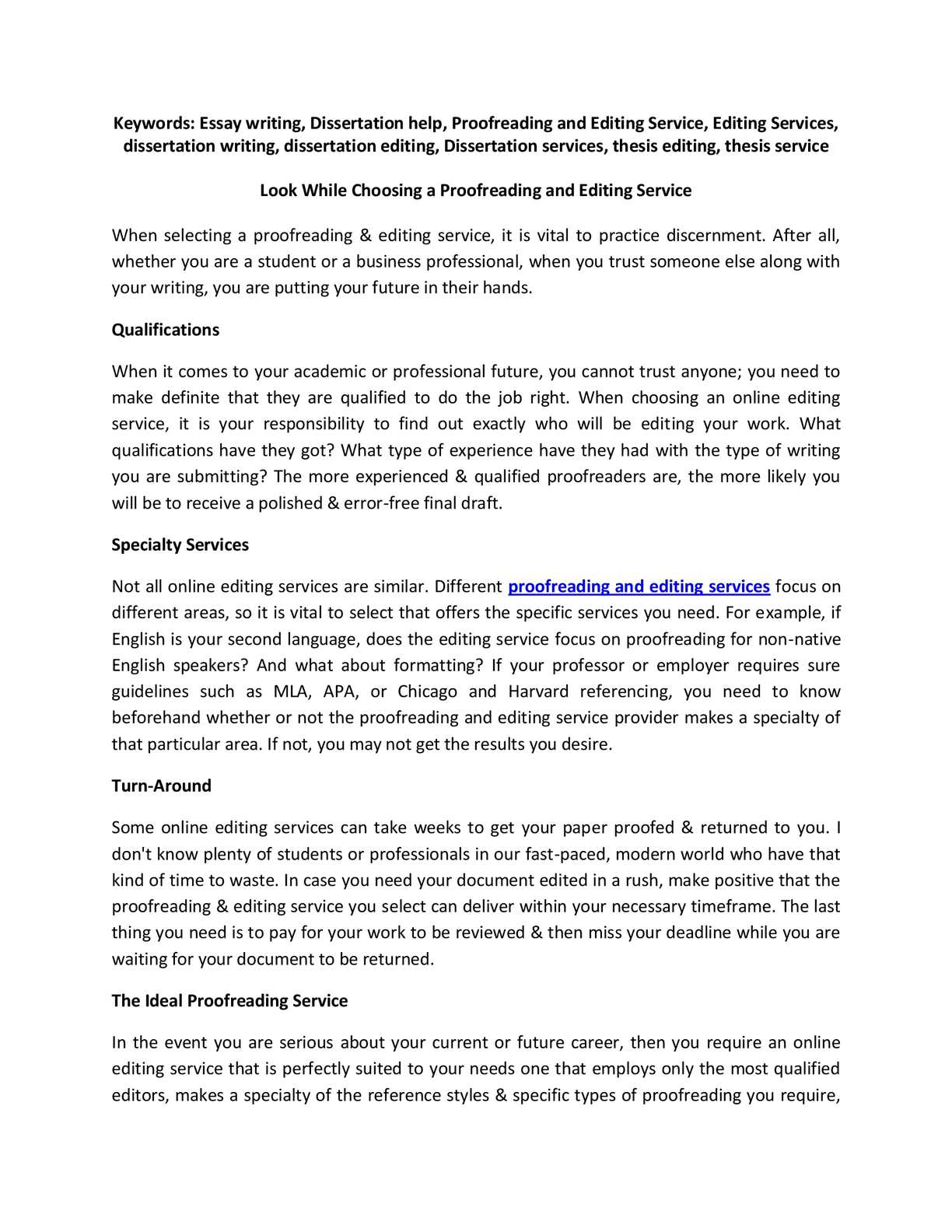 Calaméo - Look While Choosing a Proofreading and Editing Service