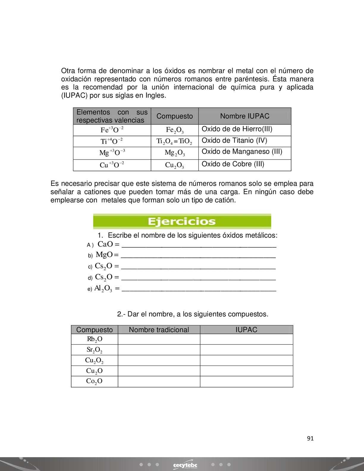 Como Se Escribe 91 En Numeros Romanos quimica - calameo downloader