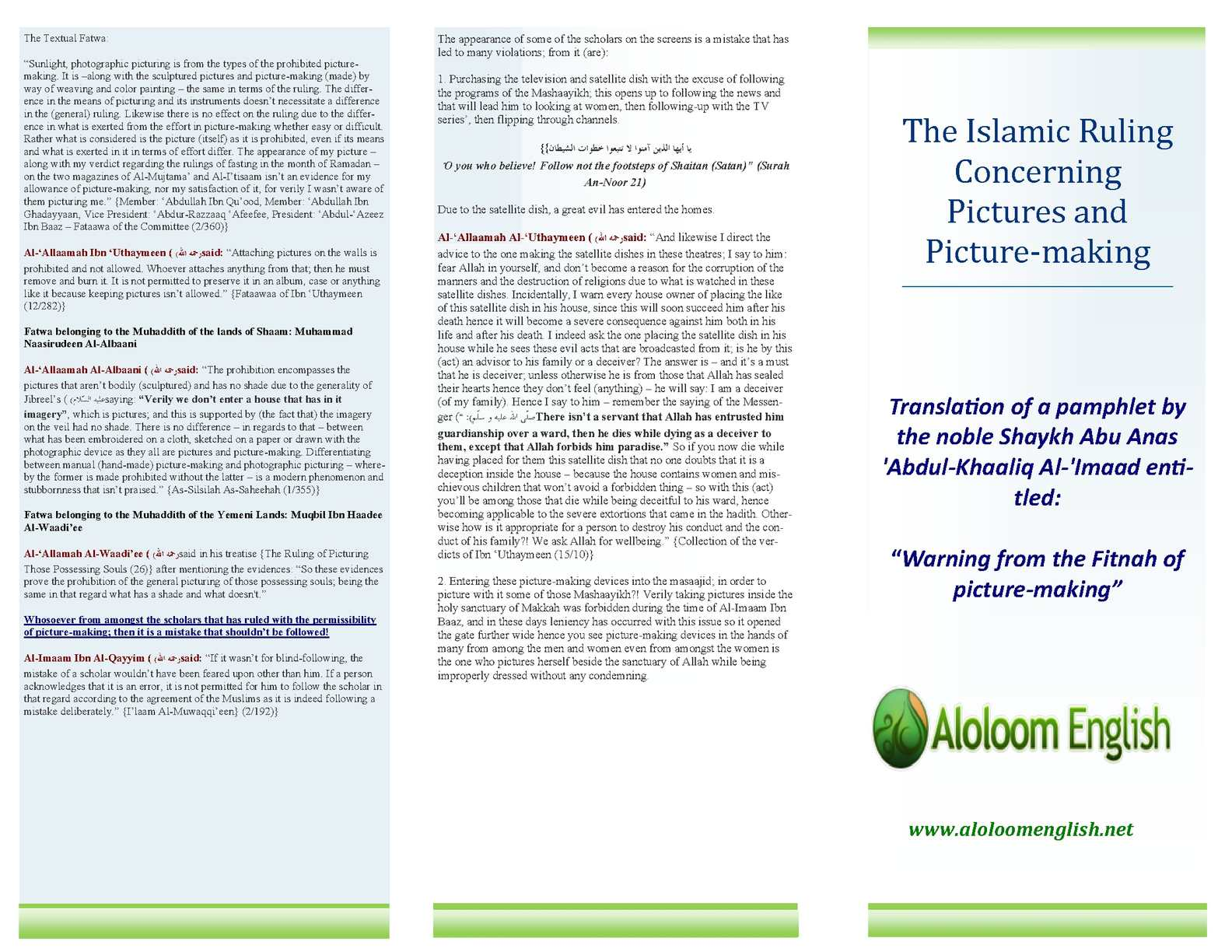Calaméo - The Islamic Ruling Concerning Pictures and Picture