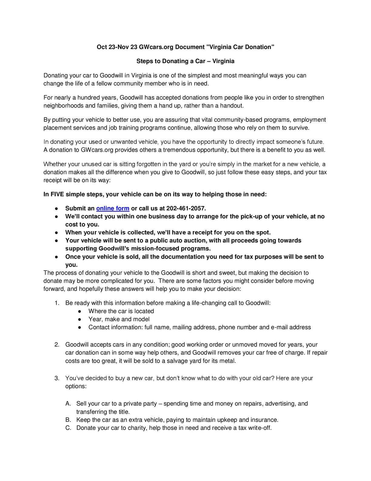 Virginia Car Tax >> Calameo Steps To Donating A Car Virginia