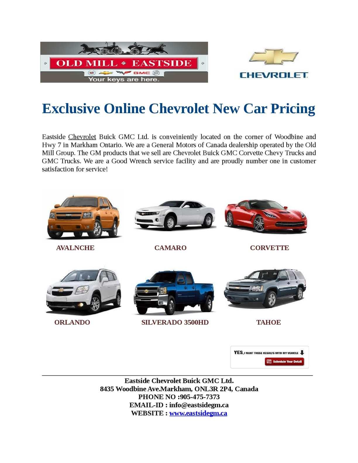 Old Mill Gm >> Calameo Chevrolet Markham Dealership