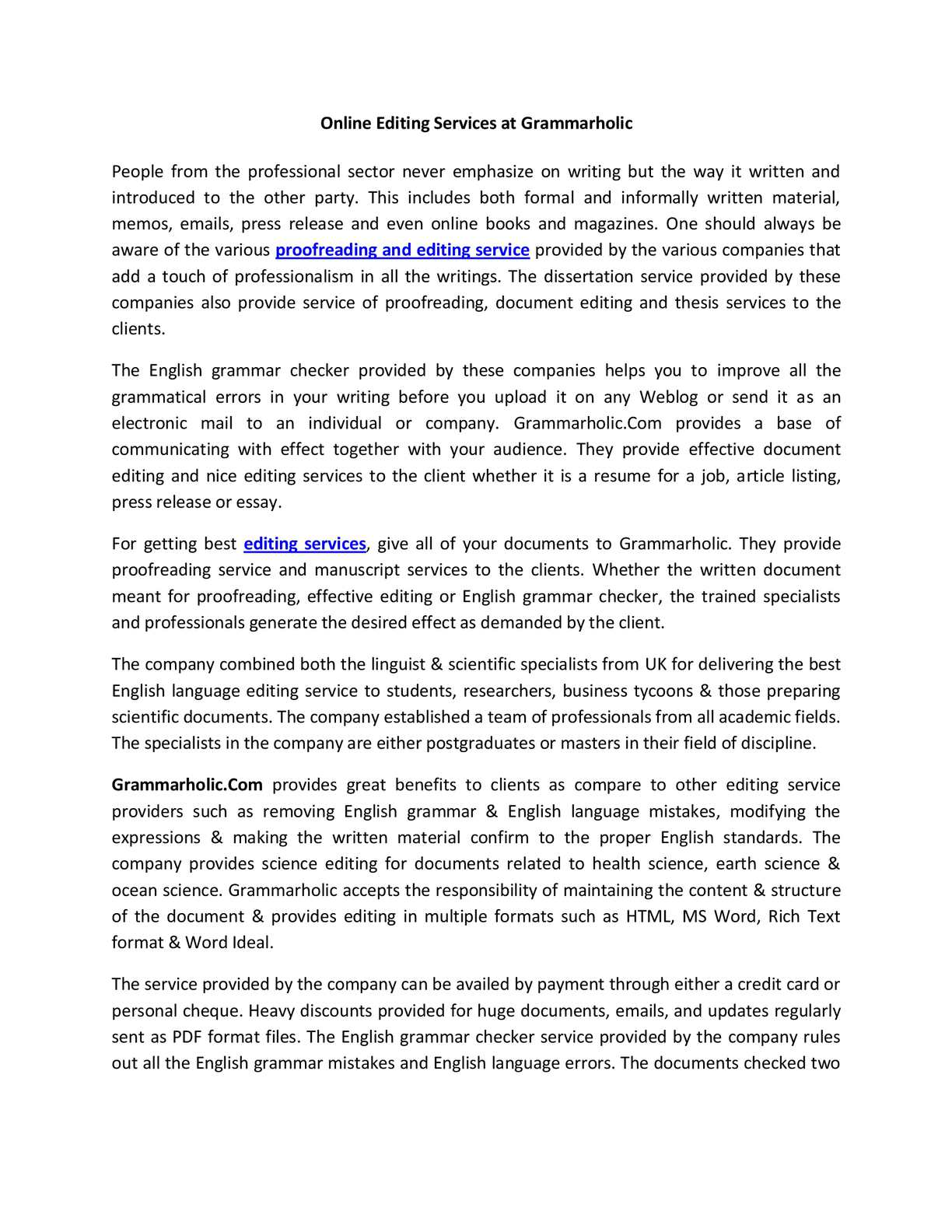 Calaméo - Online Editing Services at Grammarholic