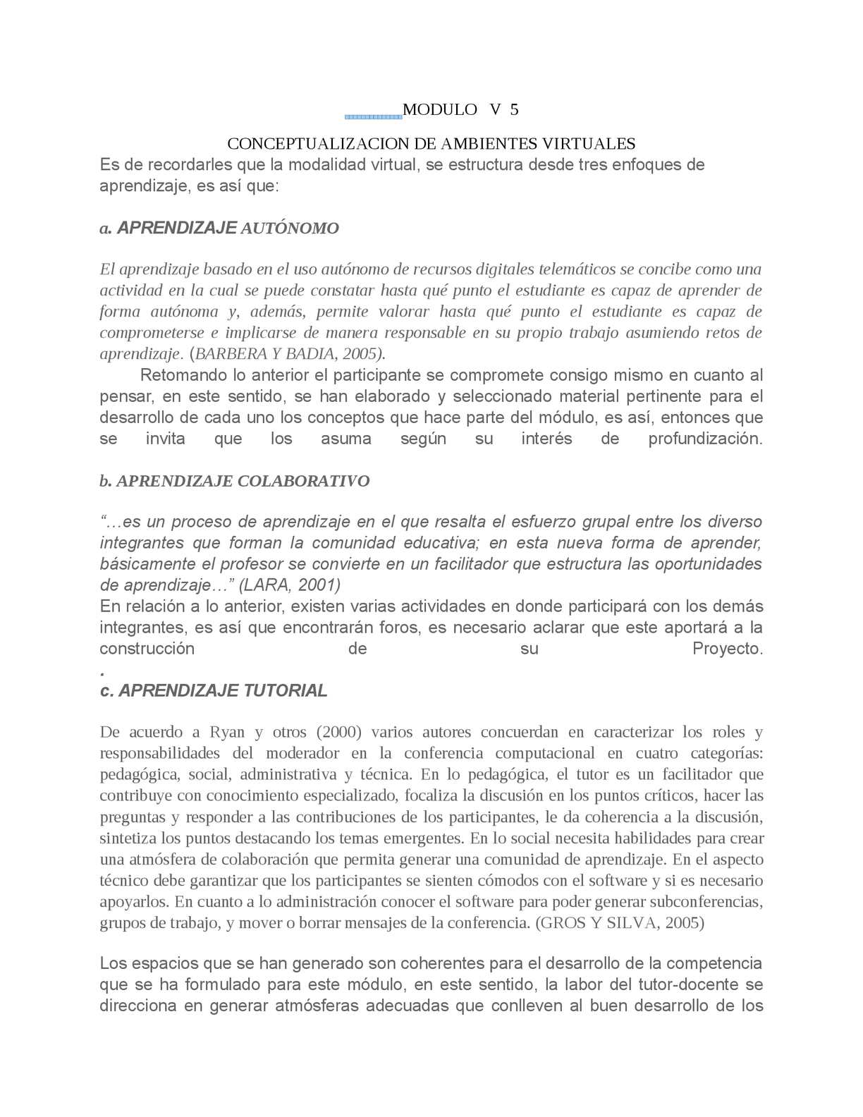 Calaméo Modulo V 5