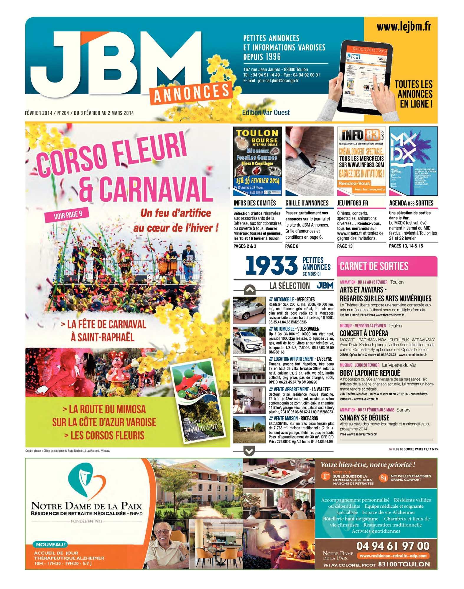 f6012327292aa Calaméo - Journal JBM Annonces n°204 Février 2014