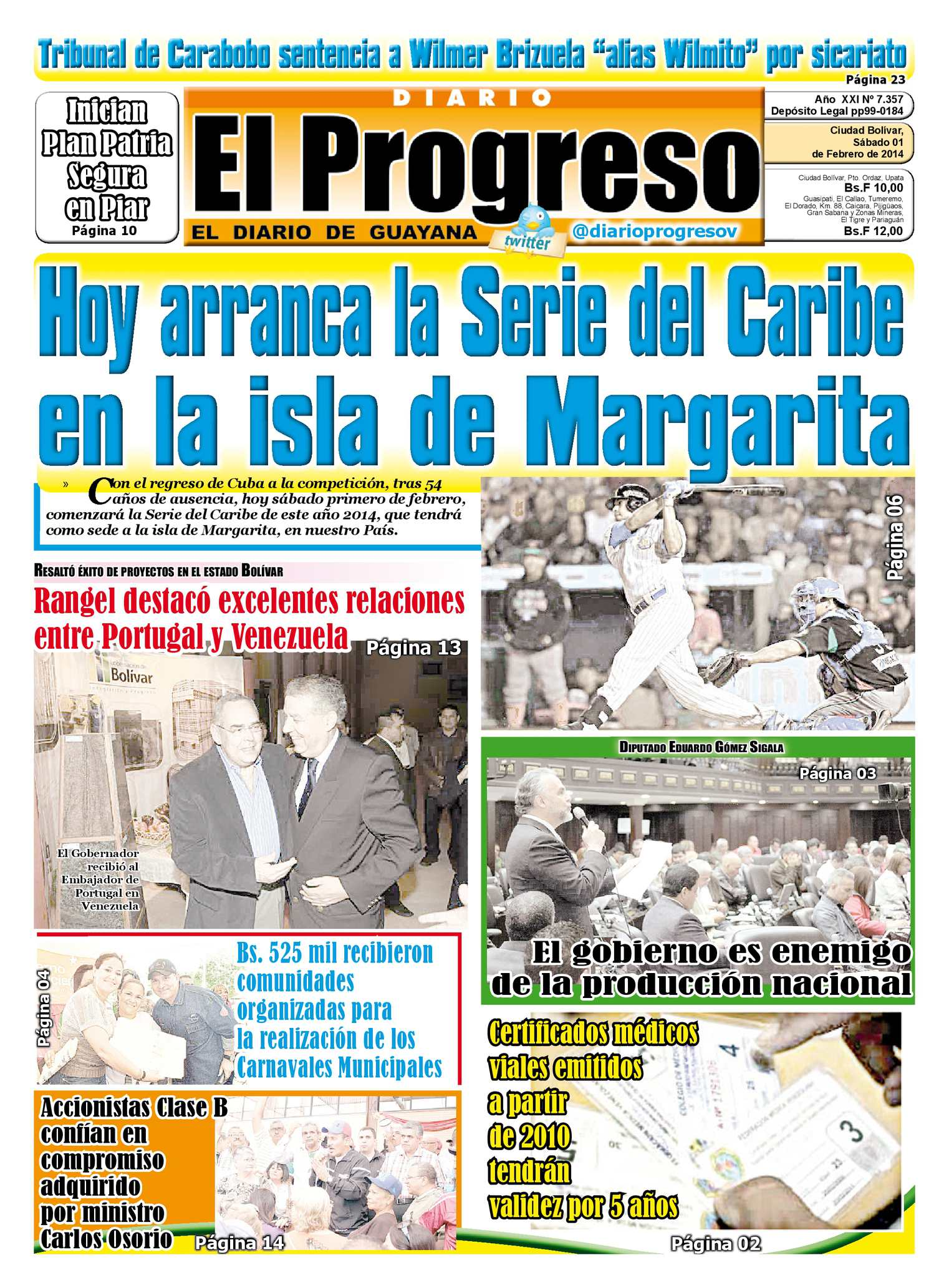 af6c82876ec20 Calaméo - DIARIO EL PROGRESO EDICIÓN DIGITAL 01-02-2014