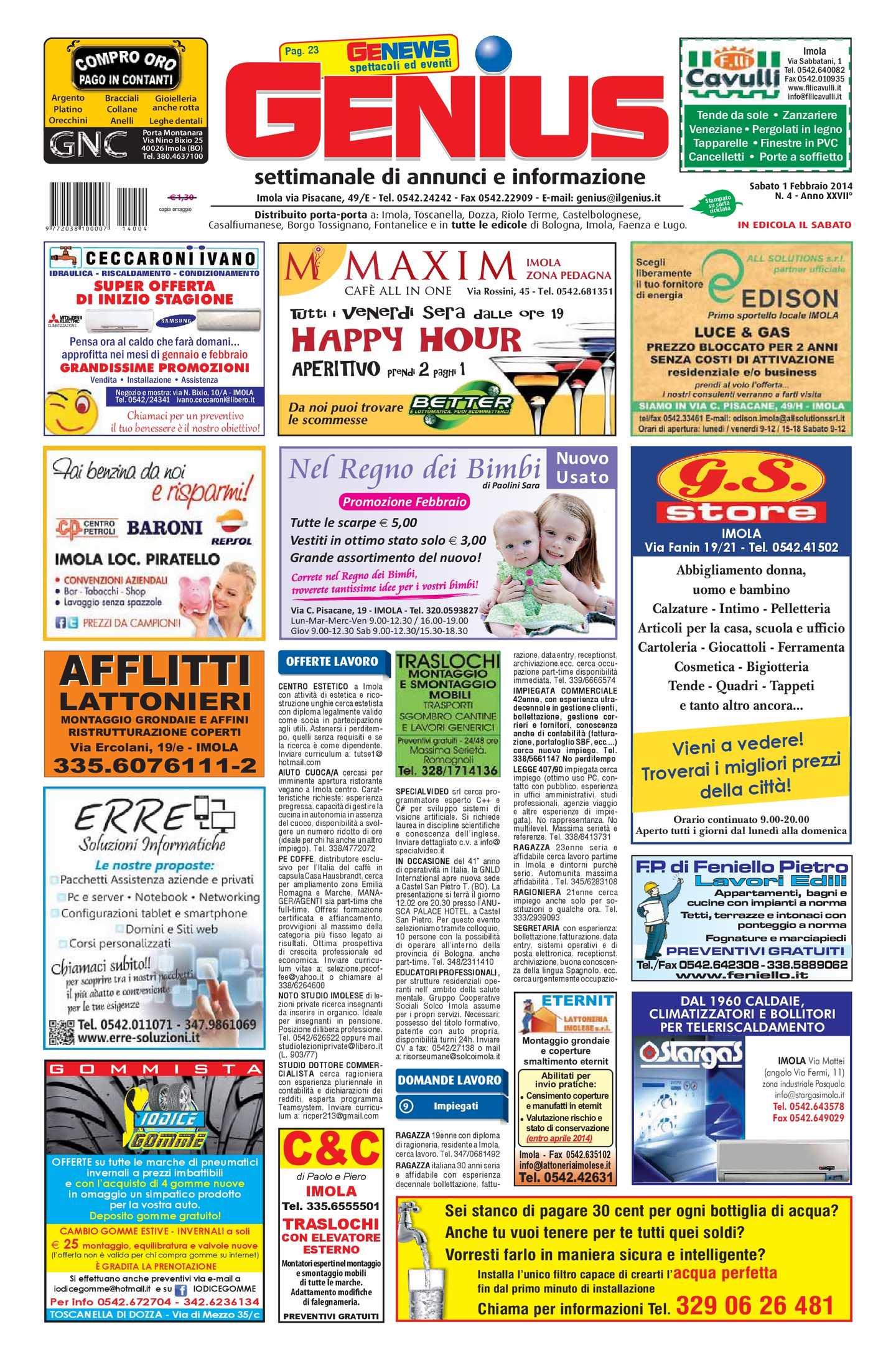All Origine Imola calaméo - genius imola num. 04 del 1 febbraio 2014