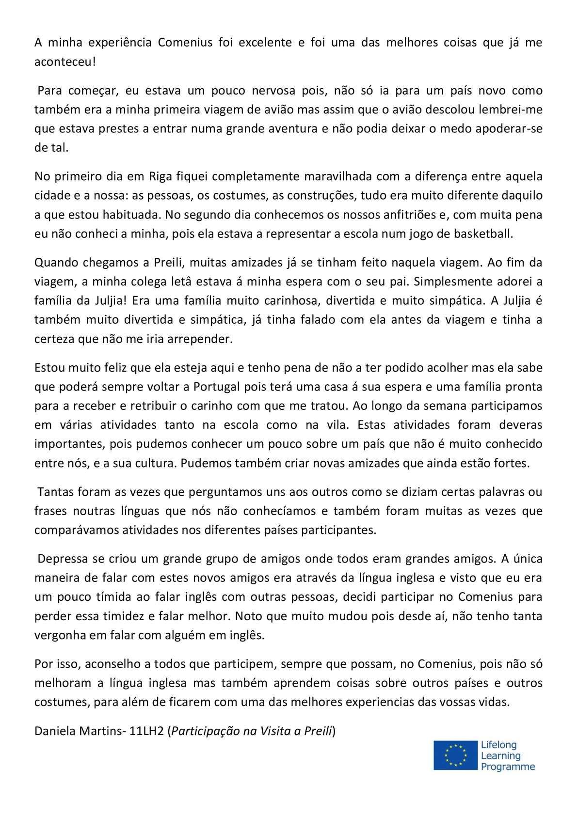 Calaméo Experiência Comenius Em Preili Daniela Martins