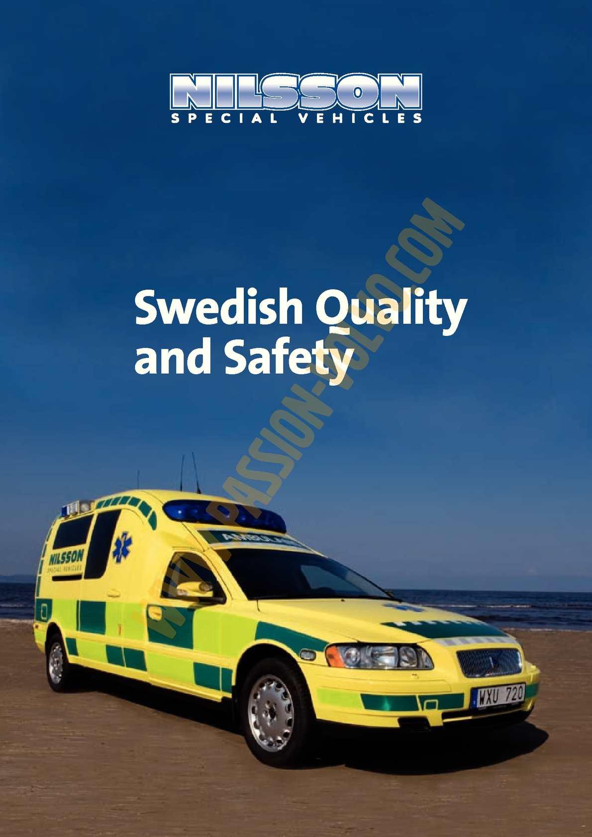 Volvo V70 Ii Présentation Modèle Ambulance Nilsson 2007