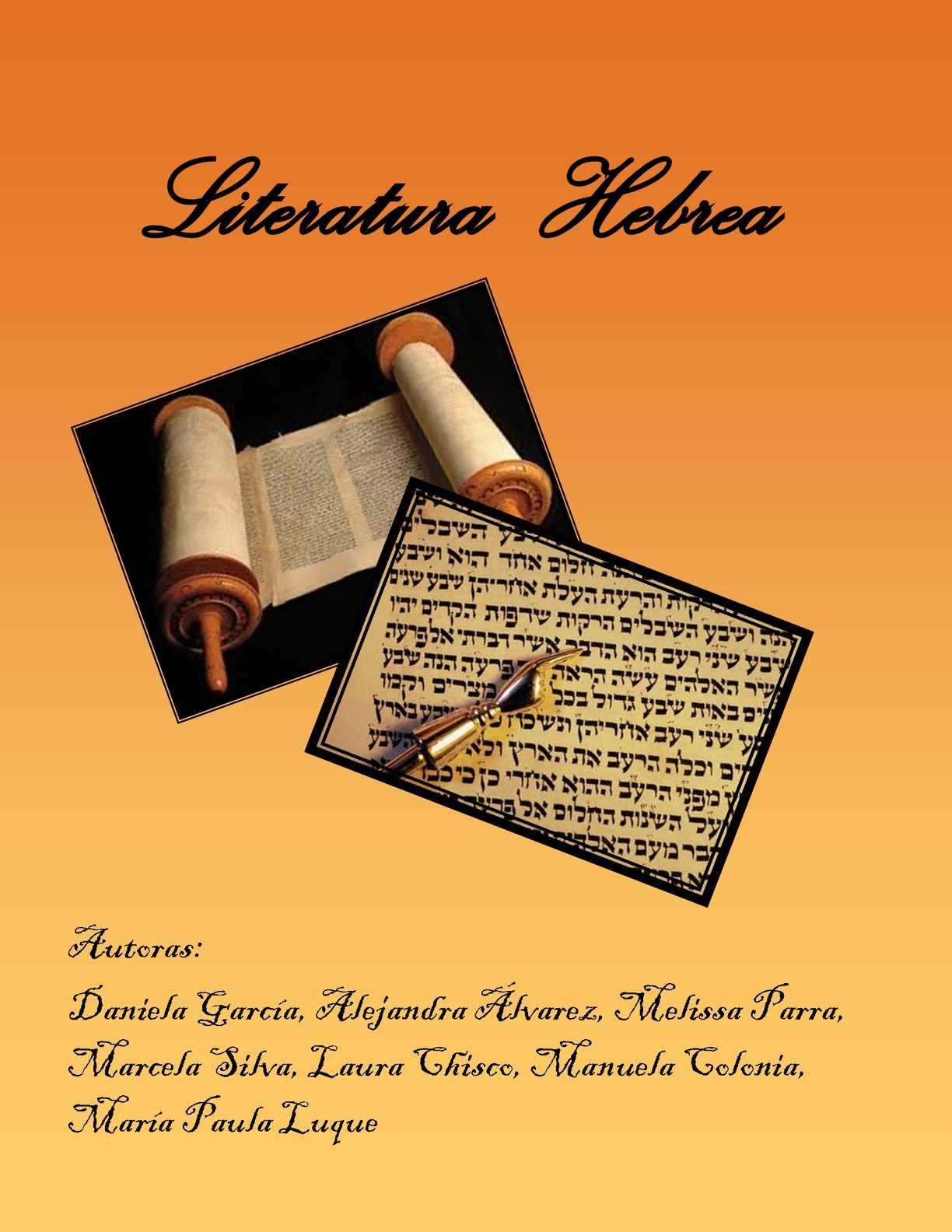 Calaméo - Literatura Hebrea