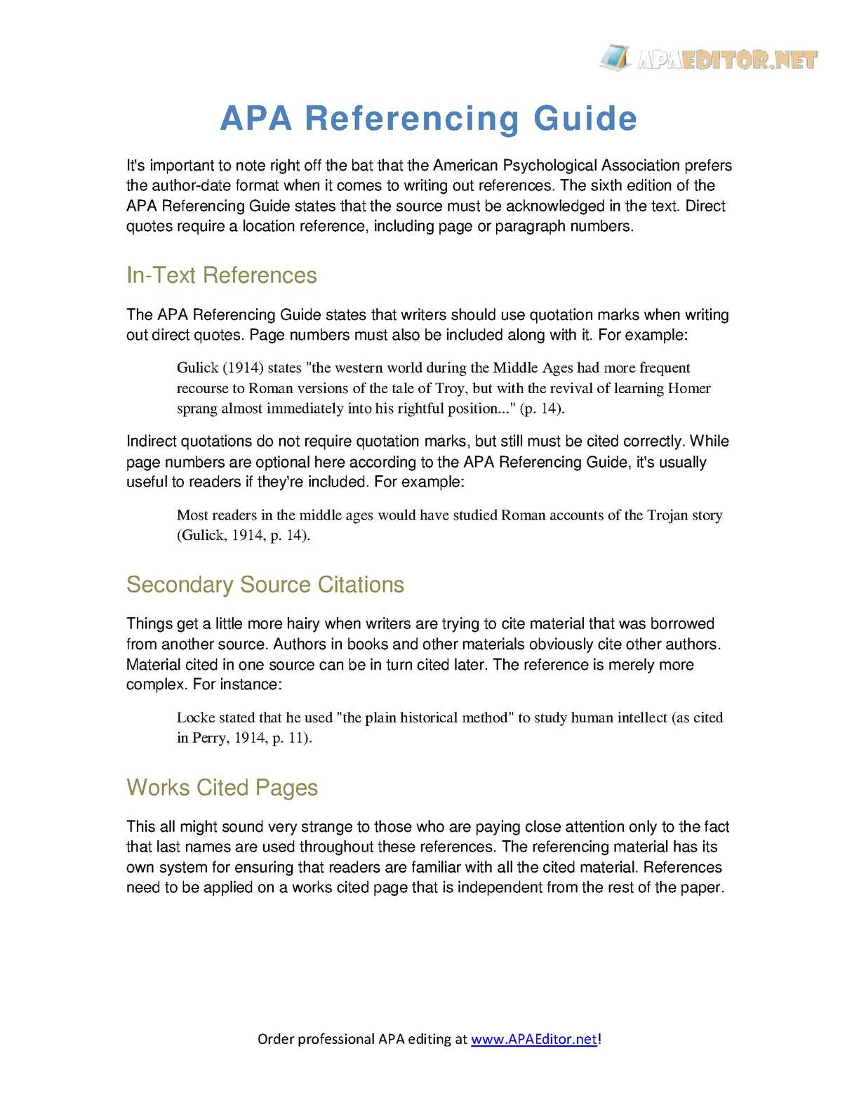 Calaméo Apa Referencing Guide