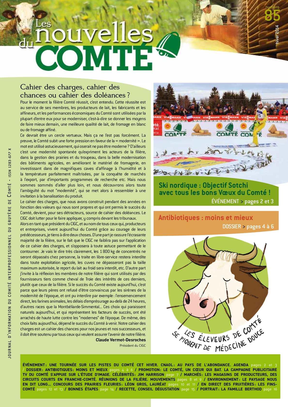 Calaméo - Les Nouvelles du Comté n°85 - Hiver 2014
