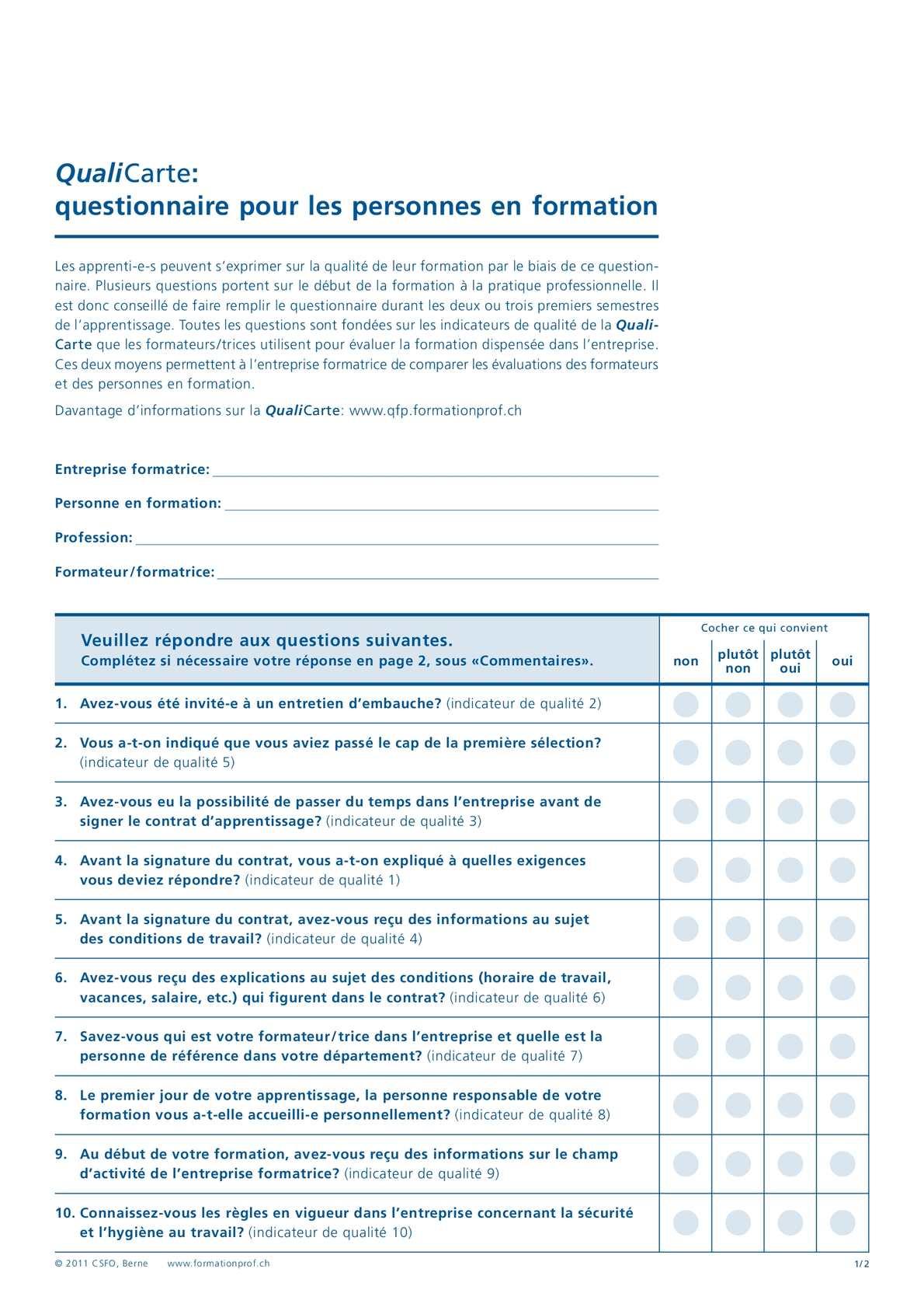 Calaméo - Questionnaire QualiCarte pour les personnes en ...
