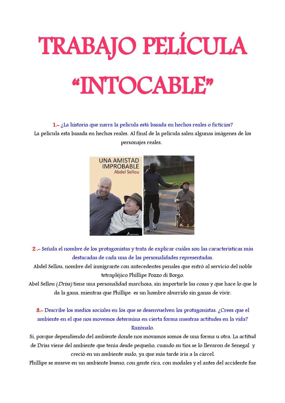 """Calaméo - Trabajo de la película """"Intocable"""""""