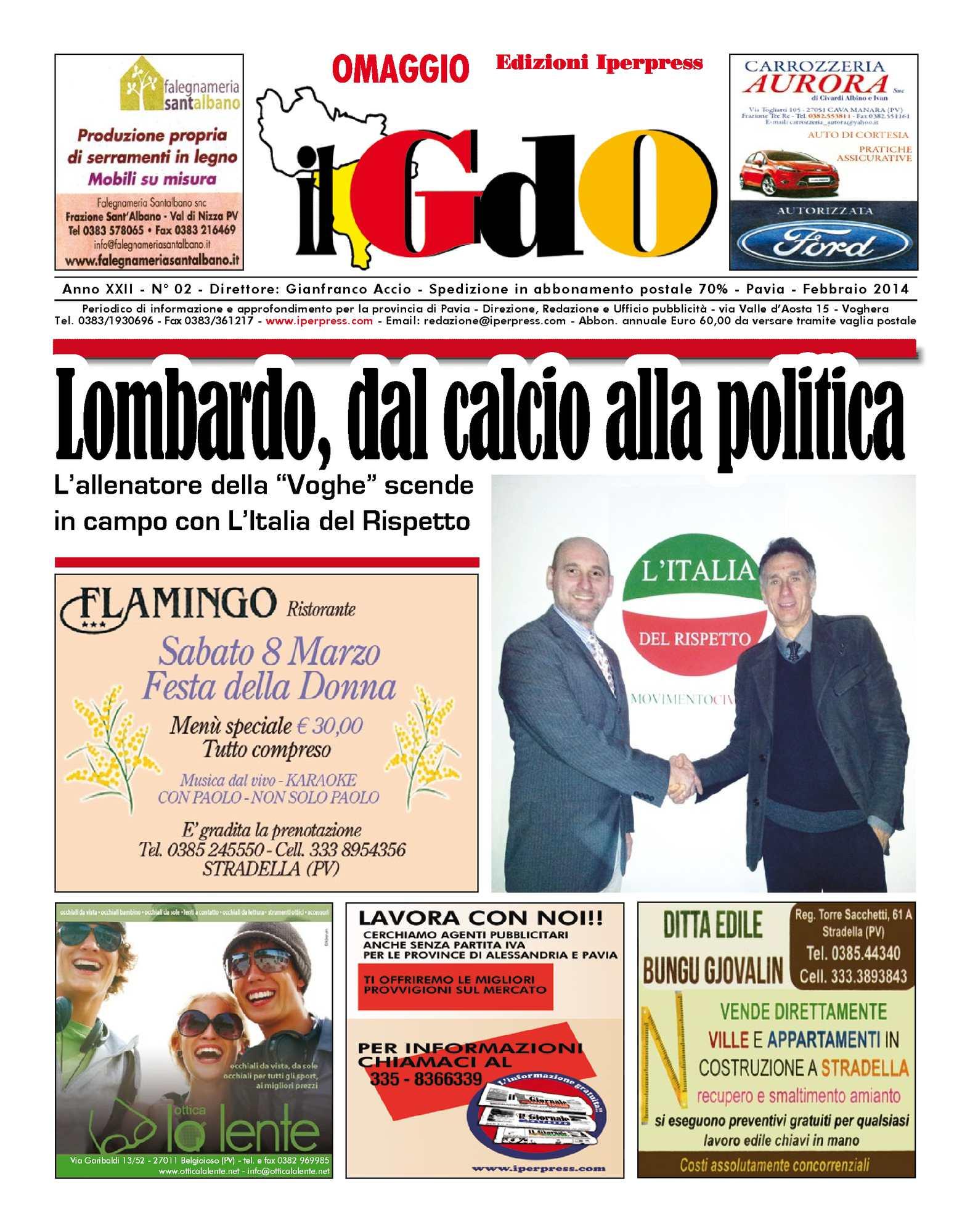 Calaméo Il Giornale Delloltrepo N 02 Febbraio 2014