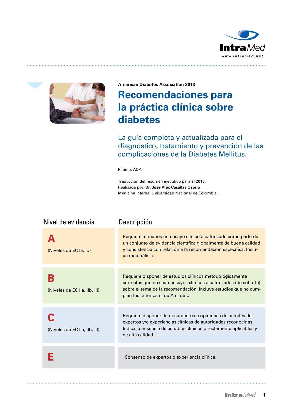 protocolo de diabetes para las estatinas