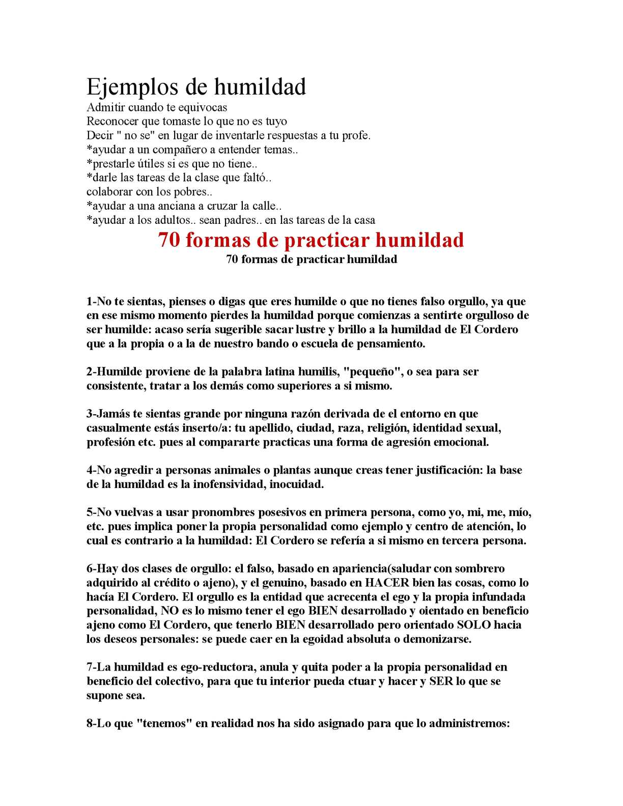 Calaméo Ejemplo De Humildad