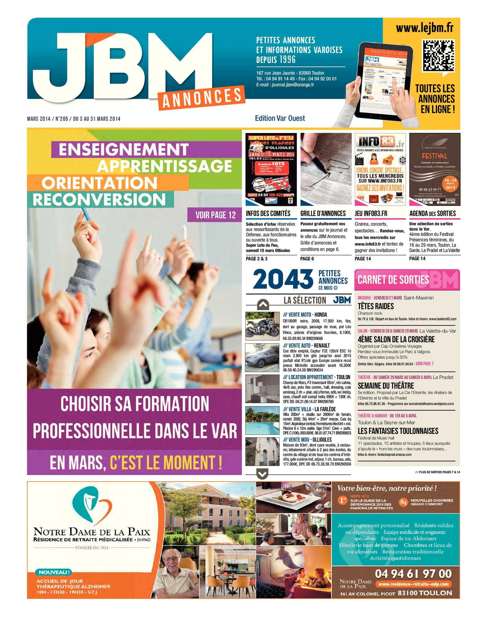 Calaméo Journal Jbm Annonces N205 Mars 2014