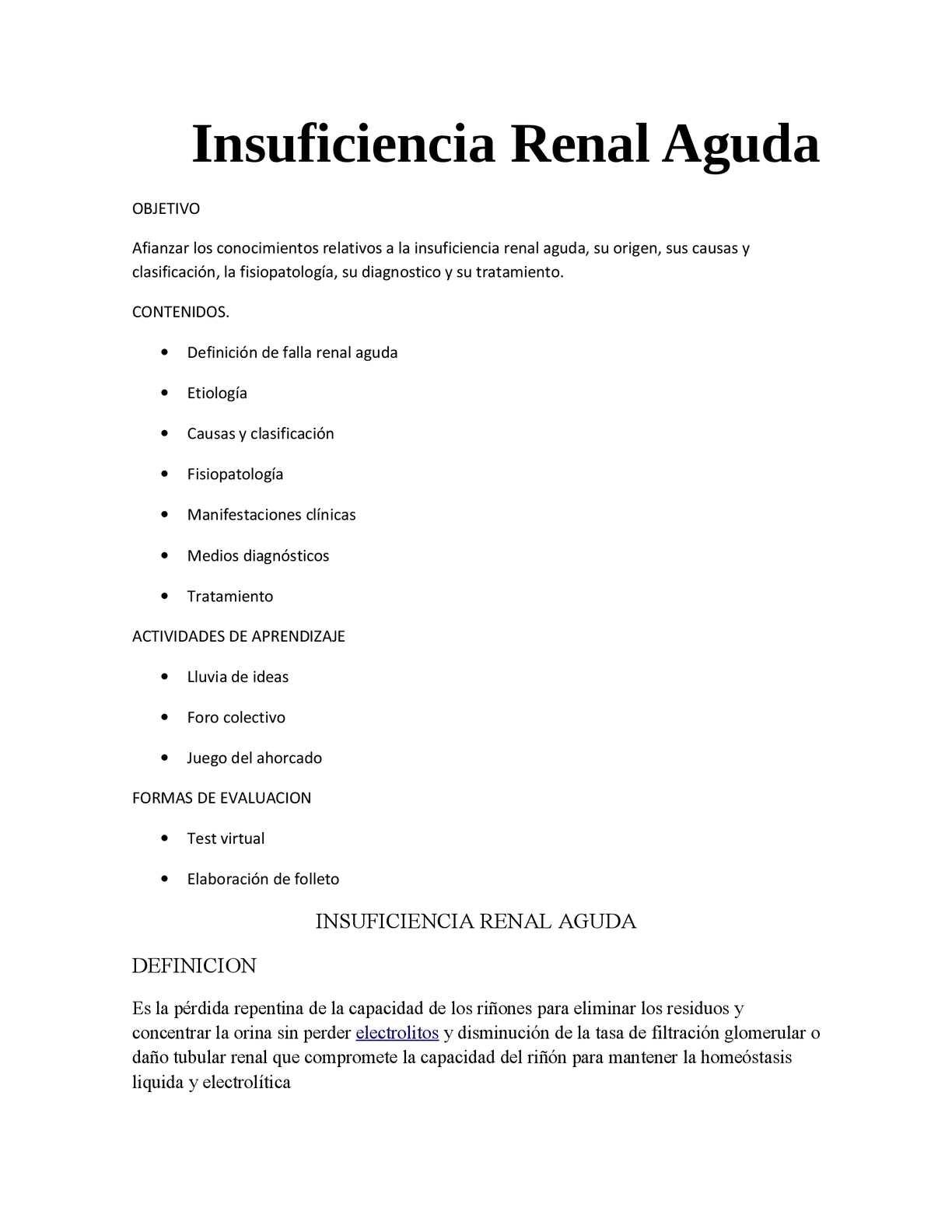 diagnostico de laboratorio de insuficiencia renal