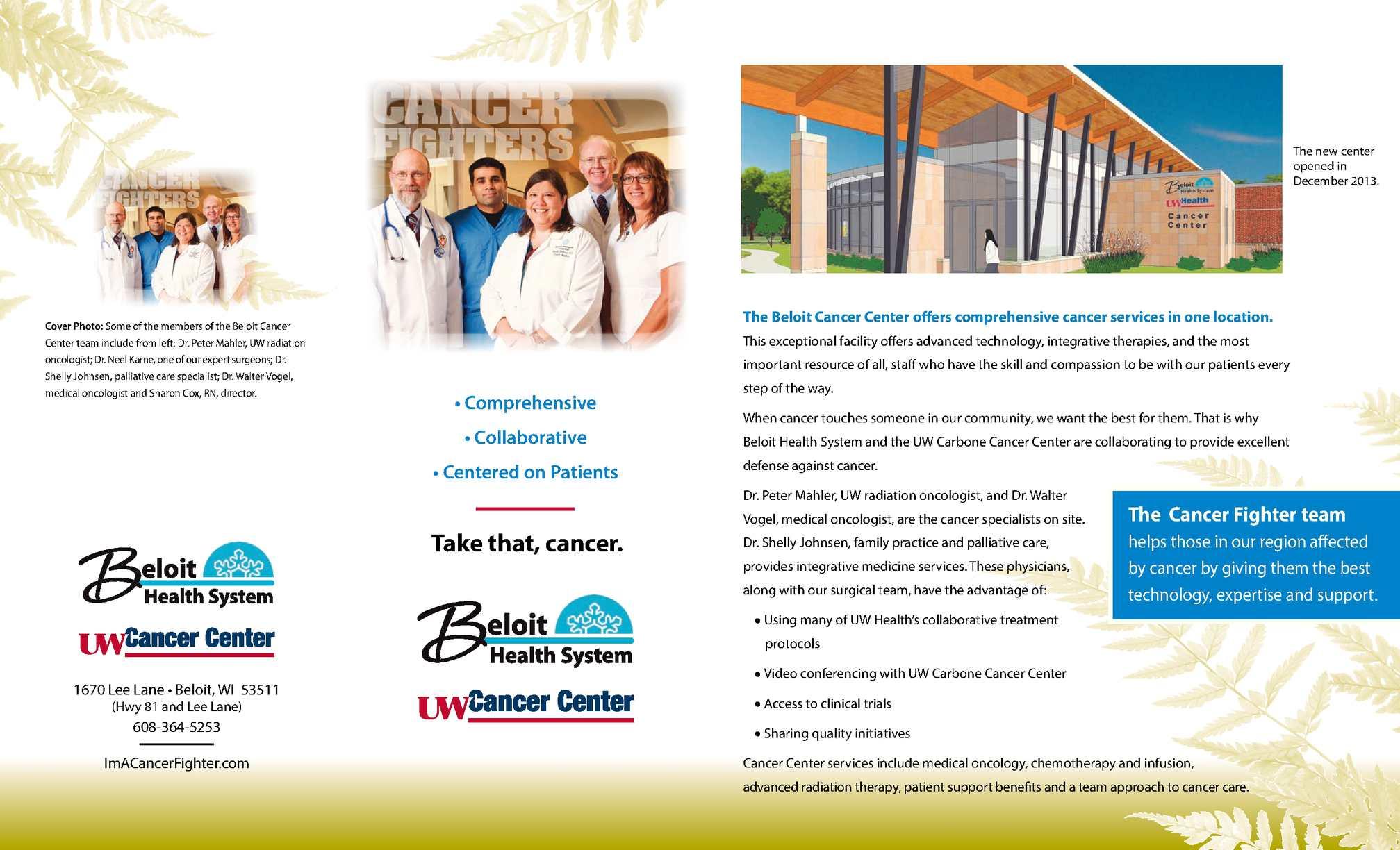 Calaméo - Cancer Care Center Beloit Wisconsin