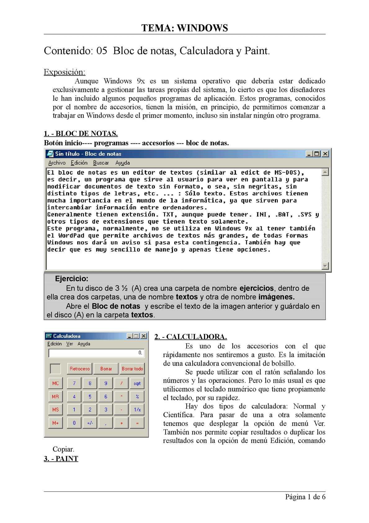 05 Accesorios de Windows