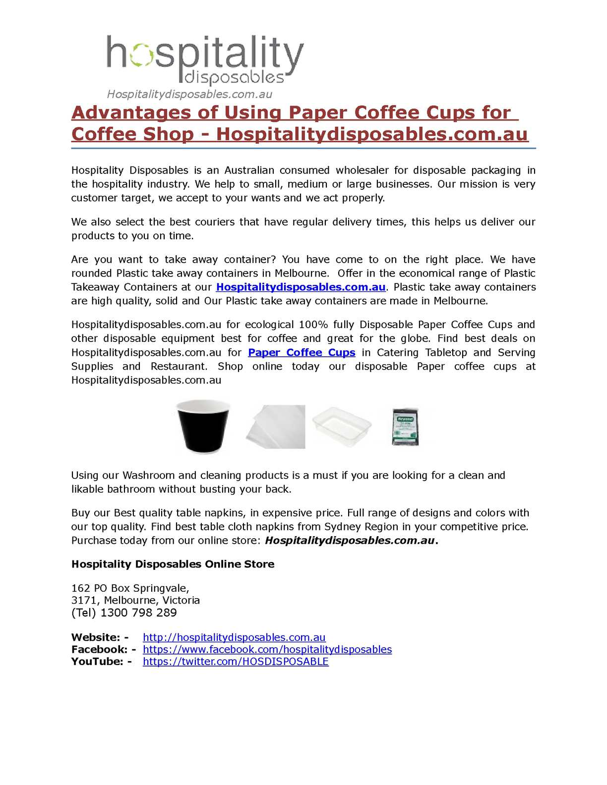 Calaméo - Advantages of Using Paper Coffee Cups for Coffee