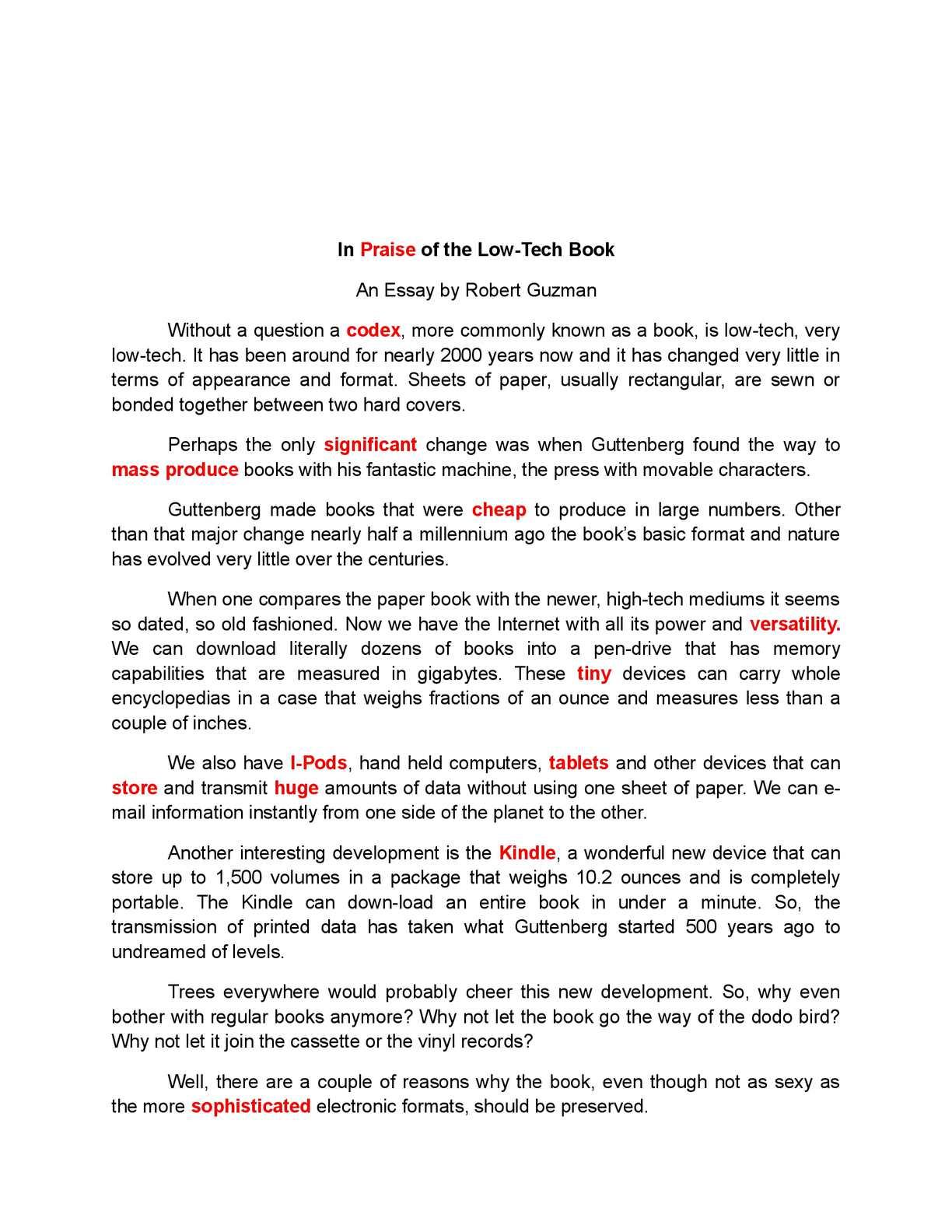 Calaméo - English 3201 Second Batch of Essays 2014