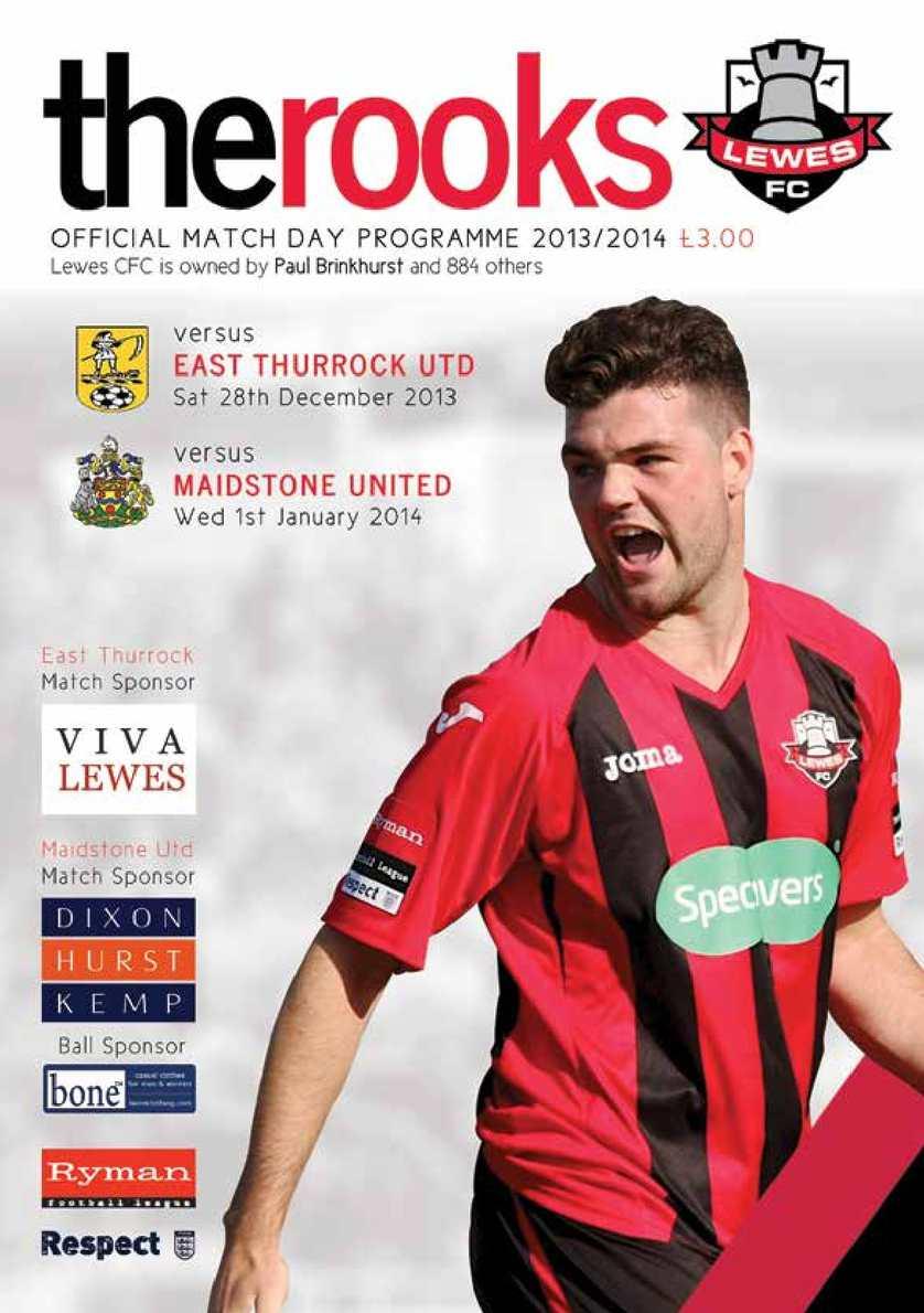 Calameo Lewes V Maidstone United East Thurrock United
