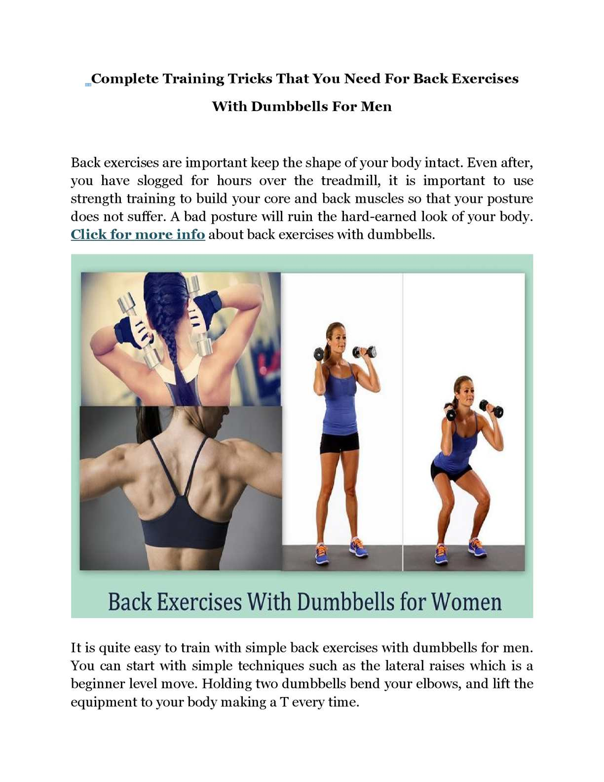 Calameo Complete Training Tricks That You Need For Back