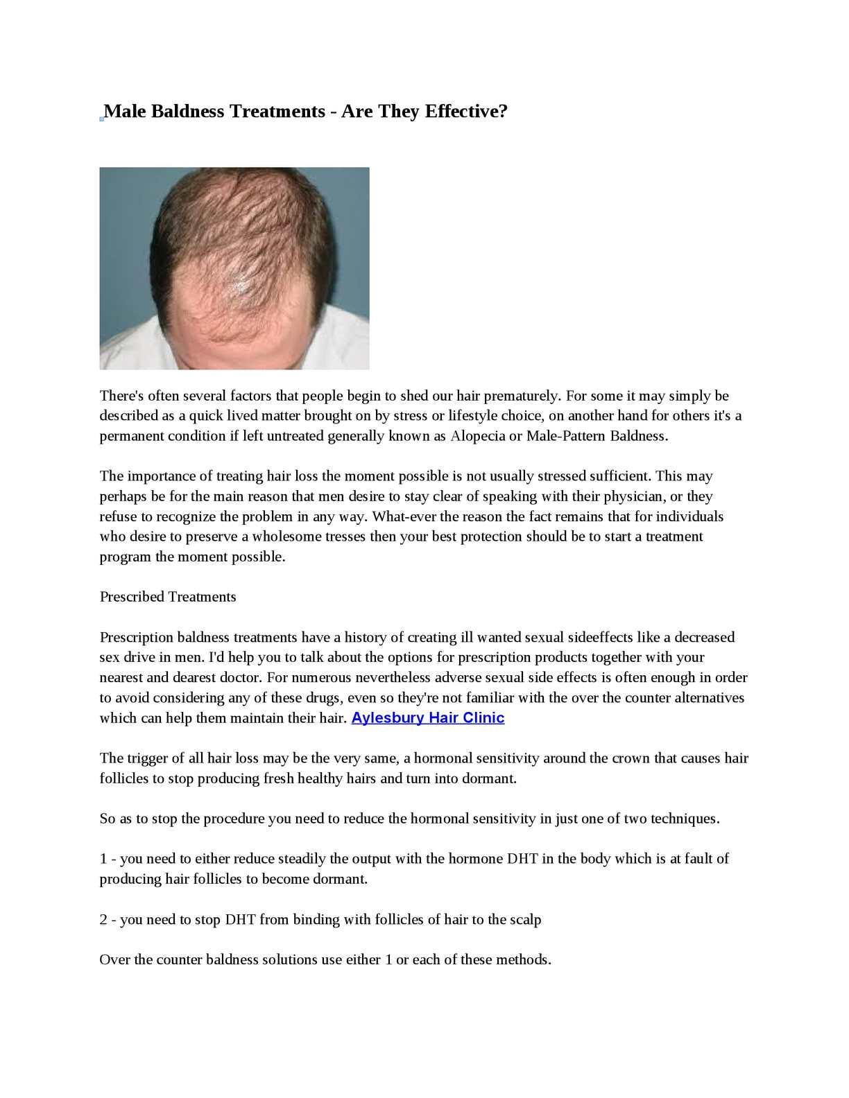 Calaméo - Male Baldness Treatments