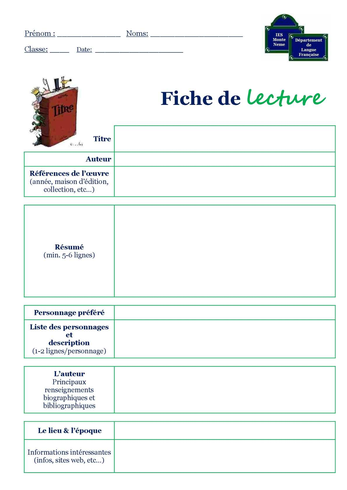 Calam 233 O Fiche Lecture