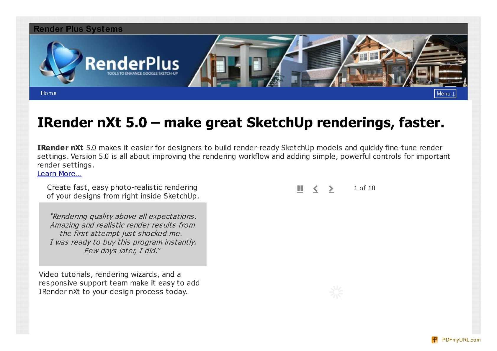 Calaméo - Sketchup Rendering Plugins - Render Plus System