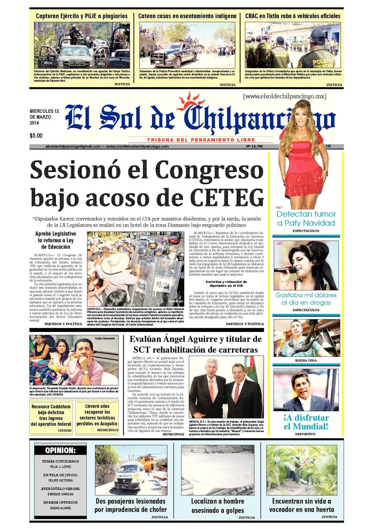 Calaméo - El Sol de Chilpancingo 12 Marzo 2014 13be53b8b24