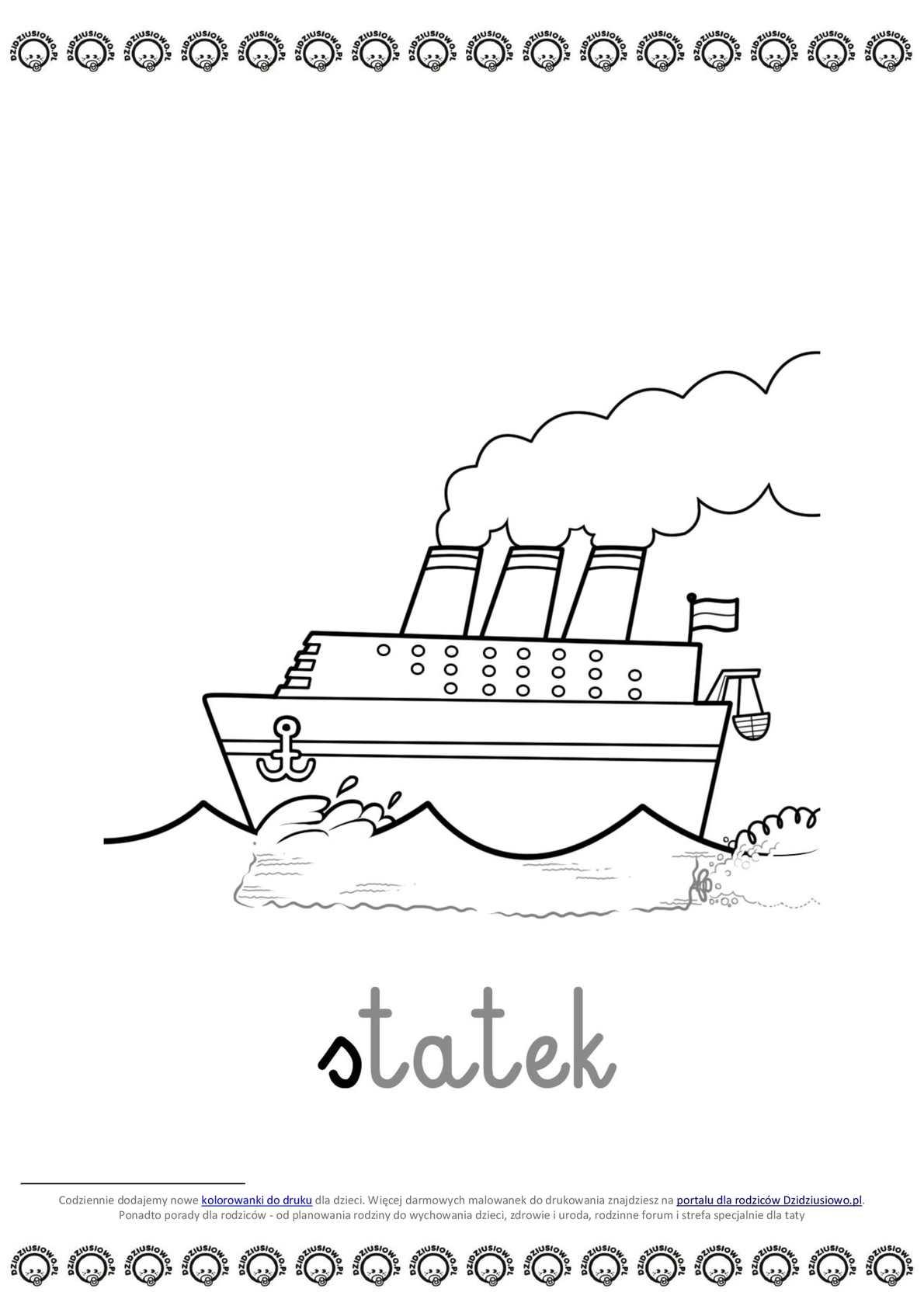 Calameo Do Druku Kolorowanki Dla Chlopcow Statek