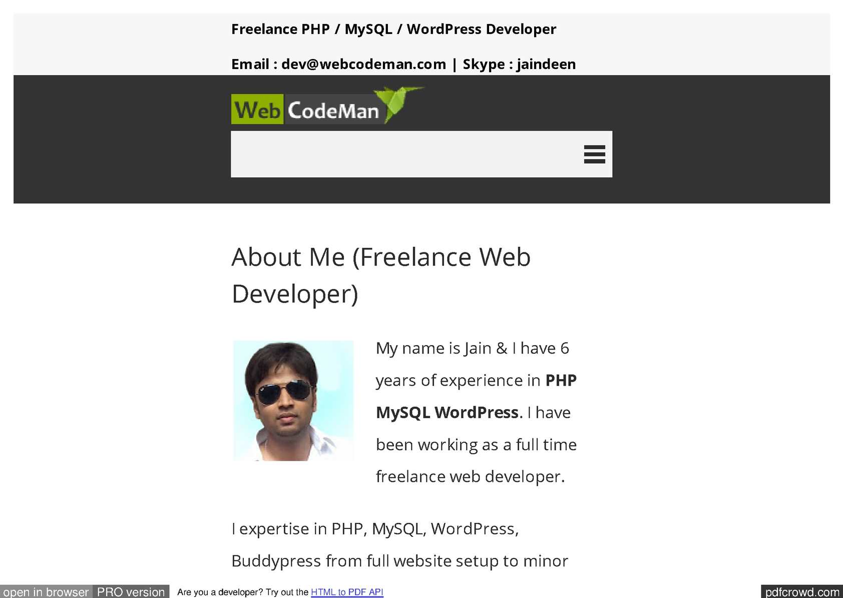 Calaméo - freelance web developer