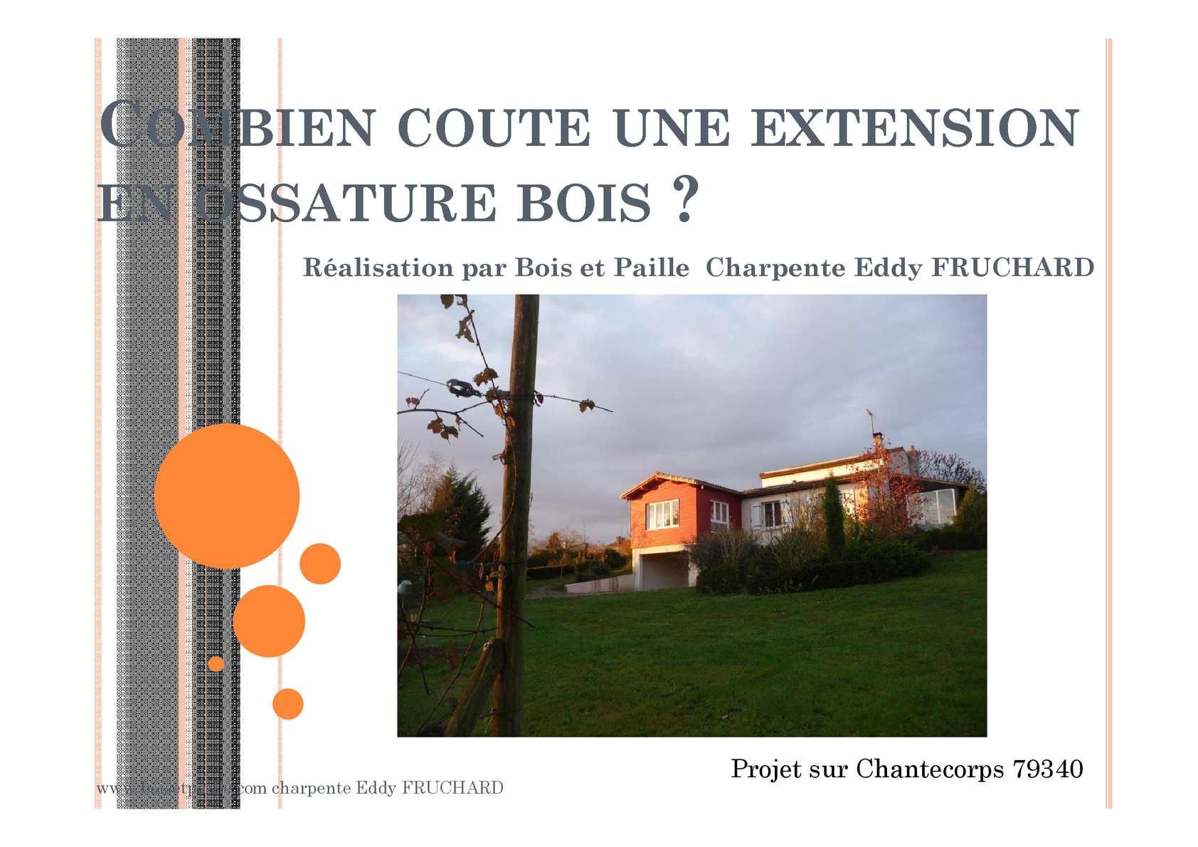 calam o cout extension ossature bois sur saint maixent l ecole 79. Black Bedroom Furniture Sets. Home Design Ideas