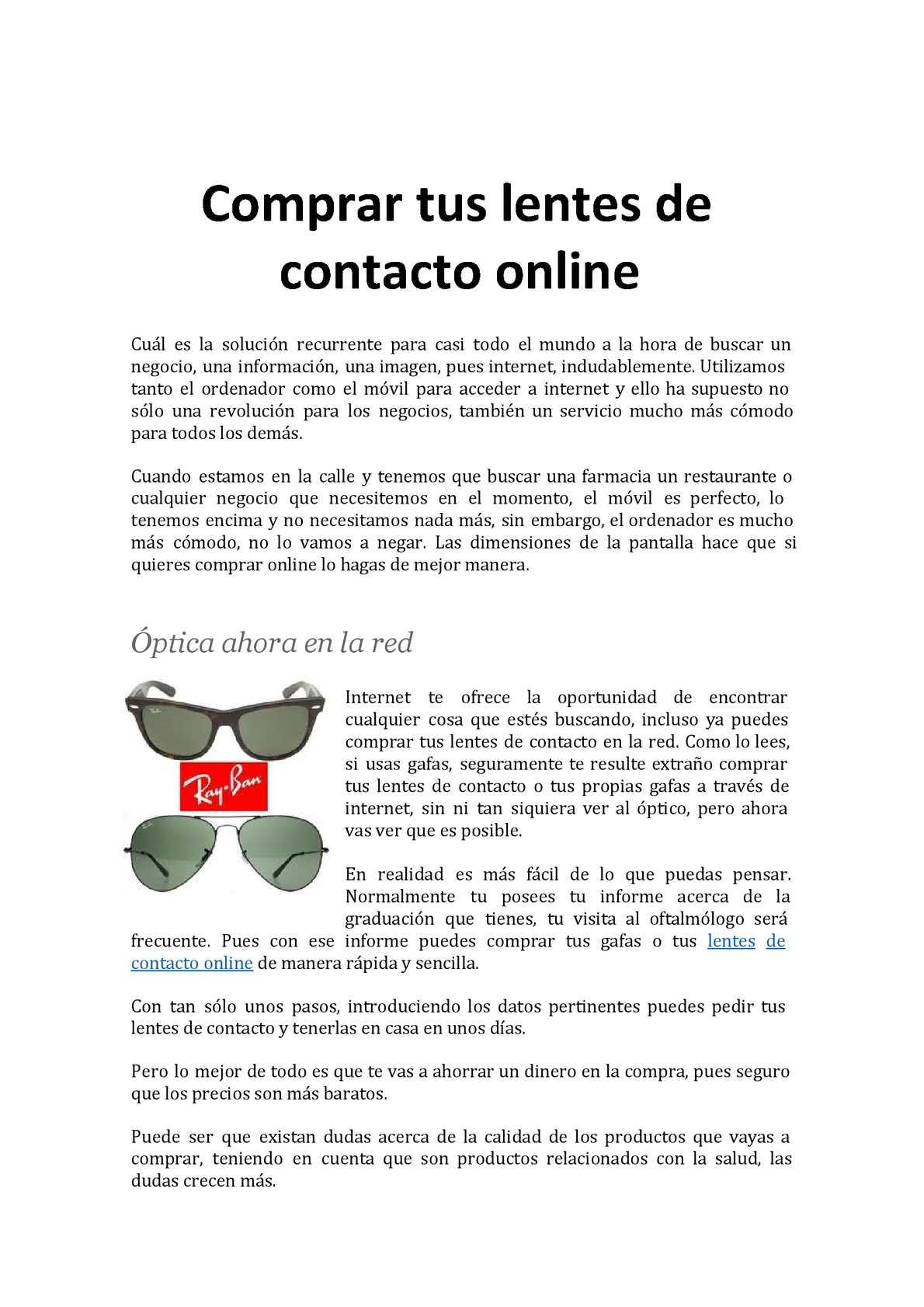 4997be318d Calaméo - Comprar tus lentes de contacto online