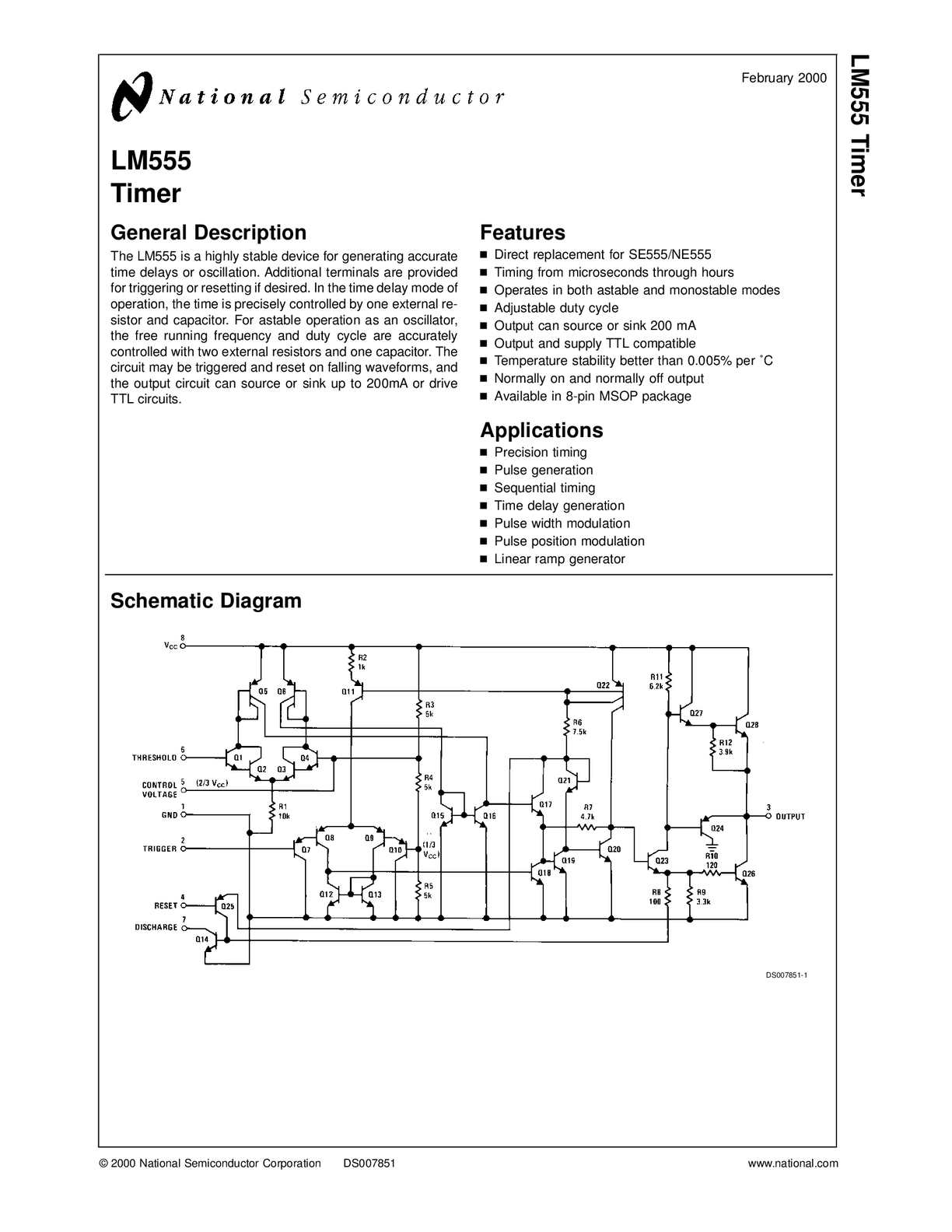 Calamo Lm555 555 Timer Generating A Delayed Pulse Schematic