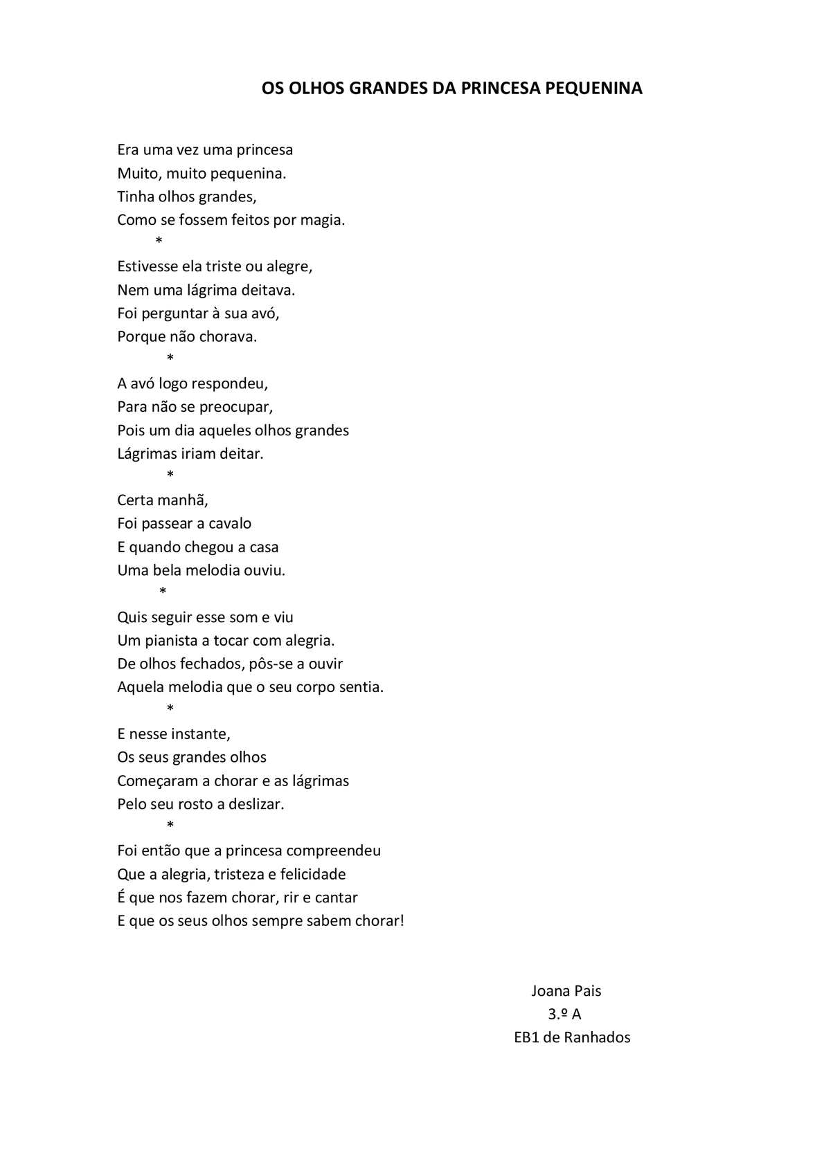 Calaméo Poemas Eb1 De Ranhados