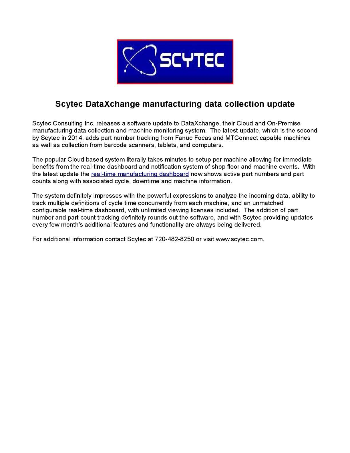 Calaméo - Scytec DataXchange manufacturing data collection