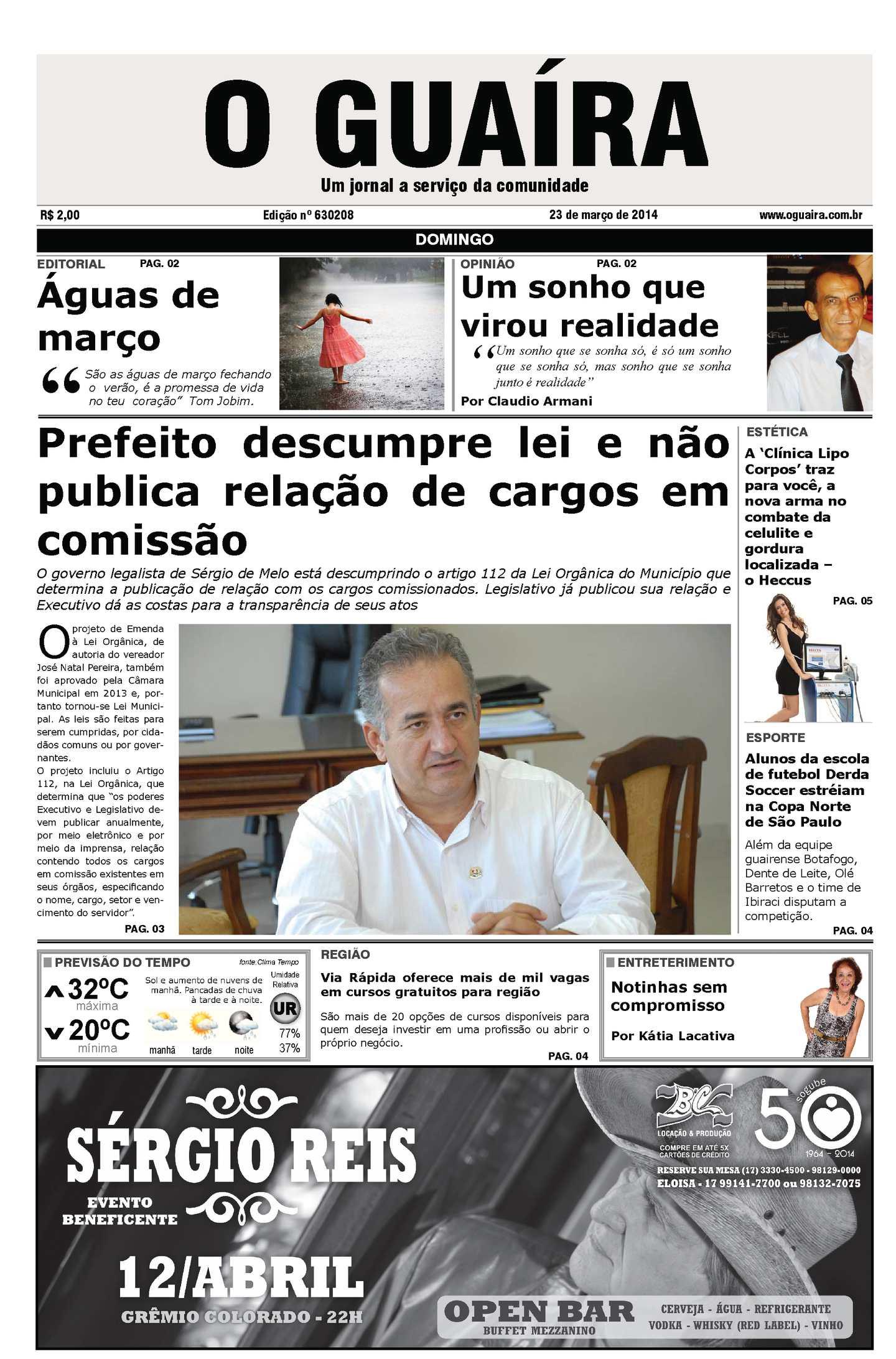 5bbdb1c124de9 Calaméo - Jornal O Guaíra de 23 de março 2014