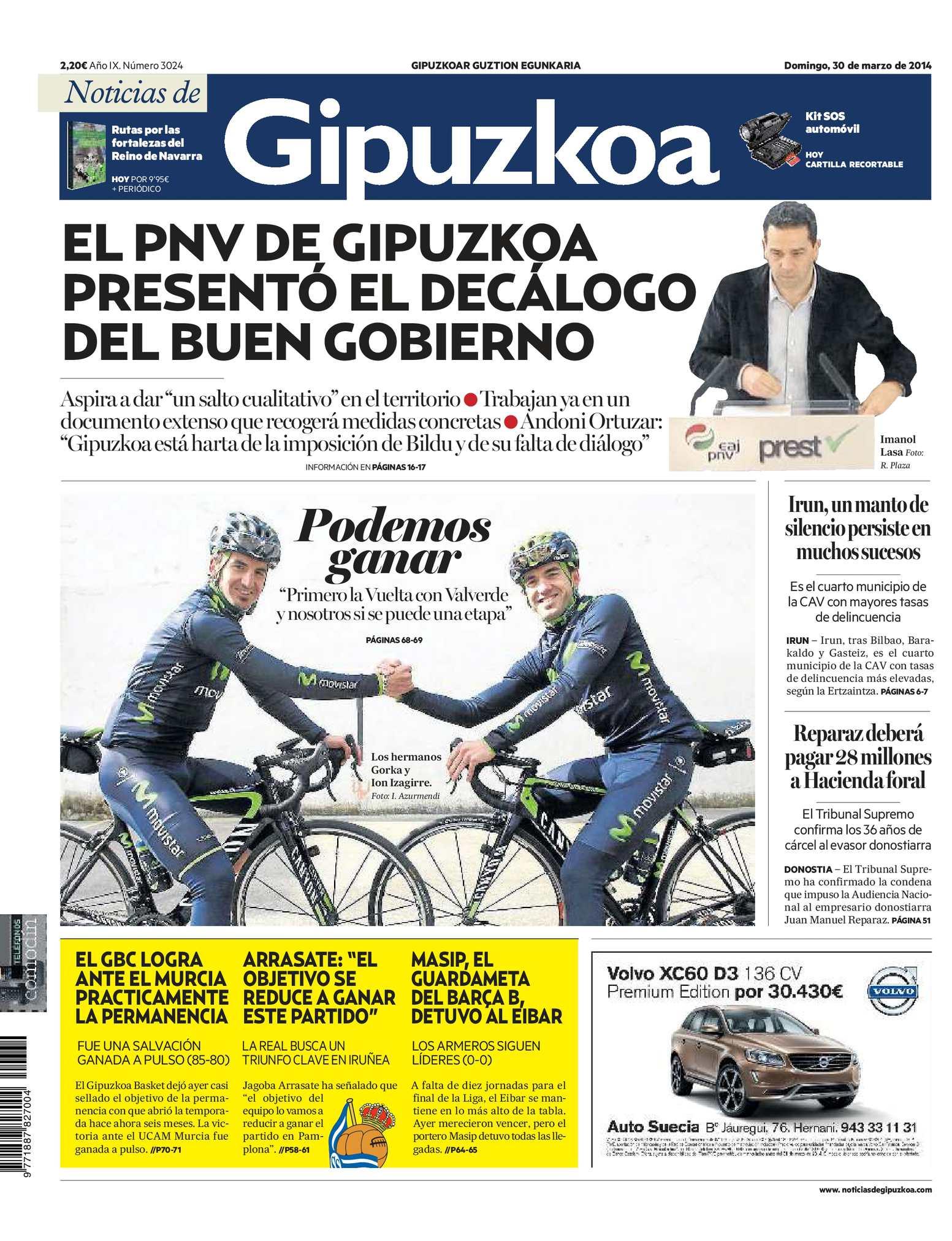 save off 78b18 267e9 Calaméo - Noticias de Gipuzkoa 20140330