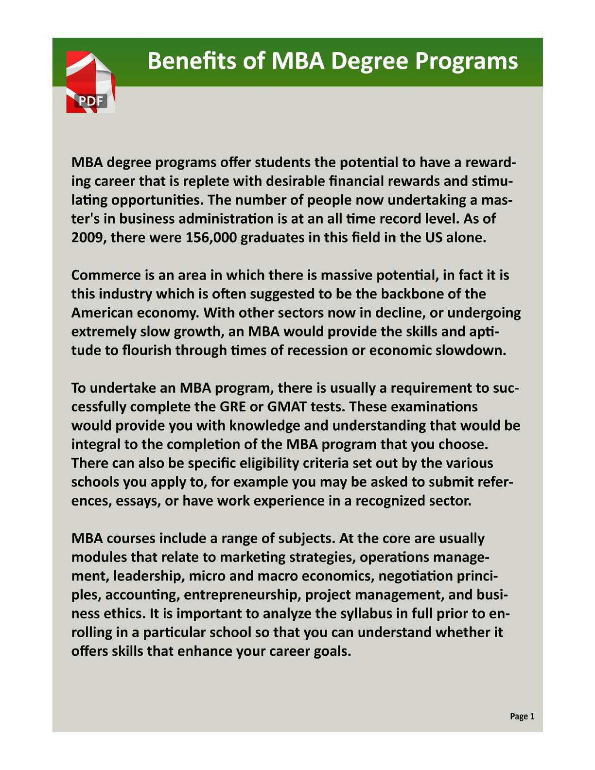 Calaméo - Benefits of MBA Education for Your Career