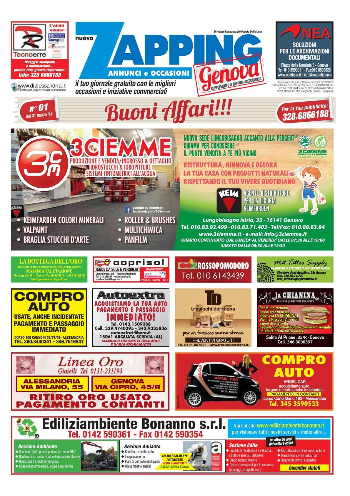 Calaméo - Zapping Genova N° 01/2014 del 31/03/2014