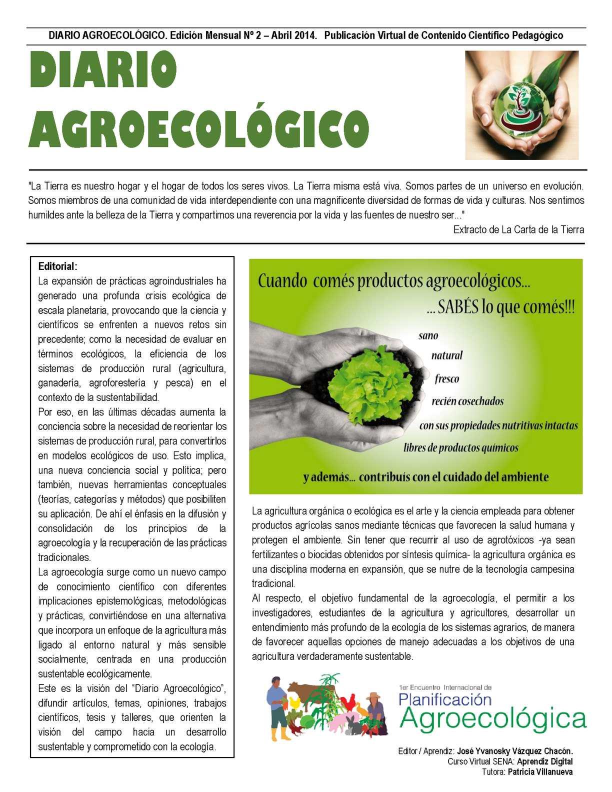 DIARIO AGROECOLÓGICO